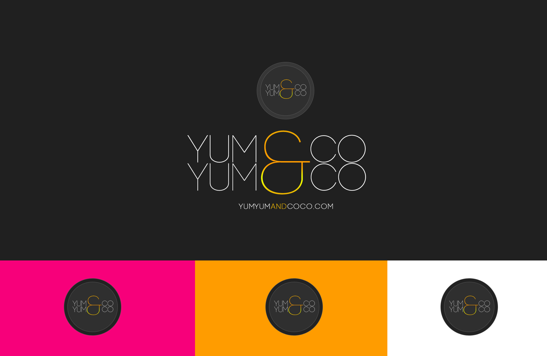 Logo Design by Jan Chua - Entry No. 244 in the Logo Design Contest Logo Design for YumYum & CoCo.