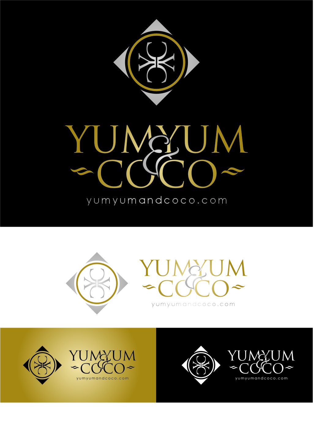 Logo Design by RasYa Muhammad Athaya - Entry No. 249 in the Logo Design Contest Logo Design for YumYum & CoCo.