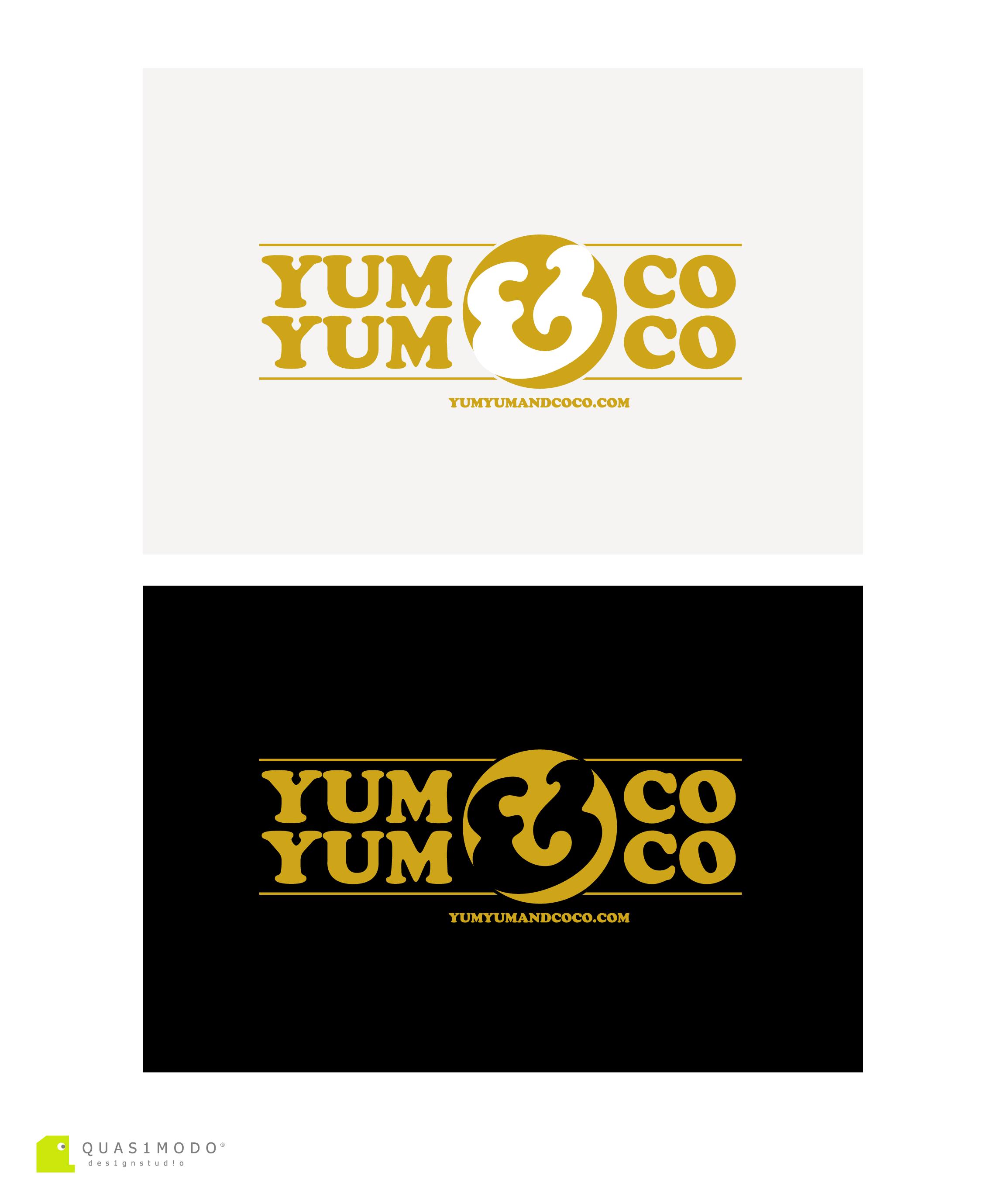 Logo Design by DIMITRIOS PAPADOPOULOS - Entry No. 266 in the Logo Design Contest Logo Design for YumYum & CoCo.