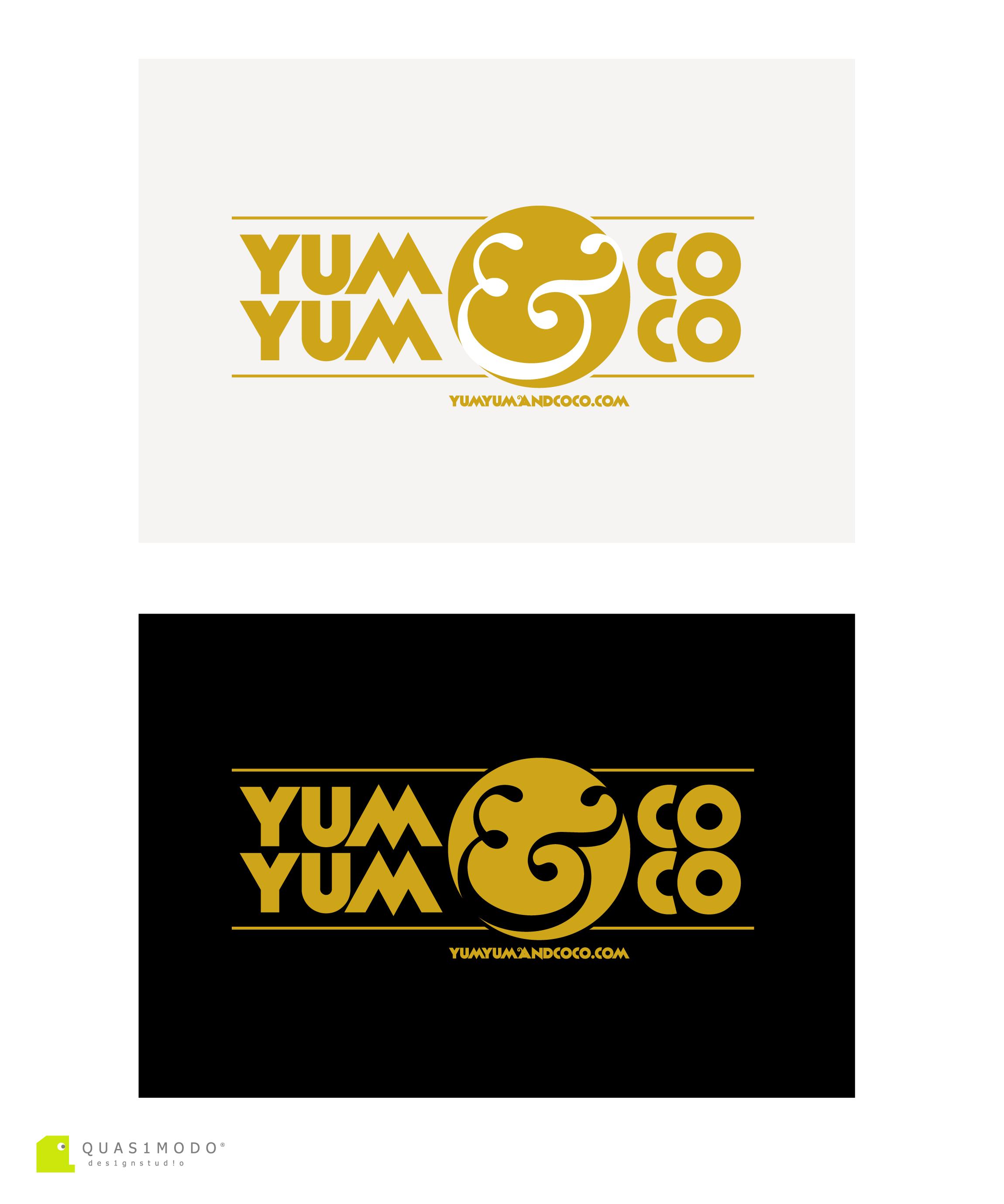 Logo Design by DIMITRIOS PAPADOPOULOS - Entry No. 268 in the Logo Design Contest Logo Design for YumYum & CoCo.