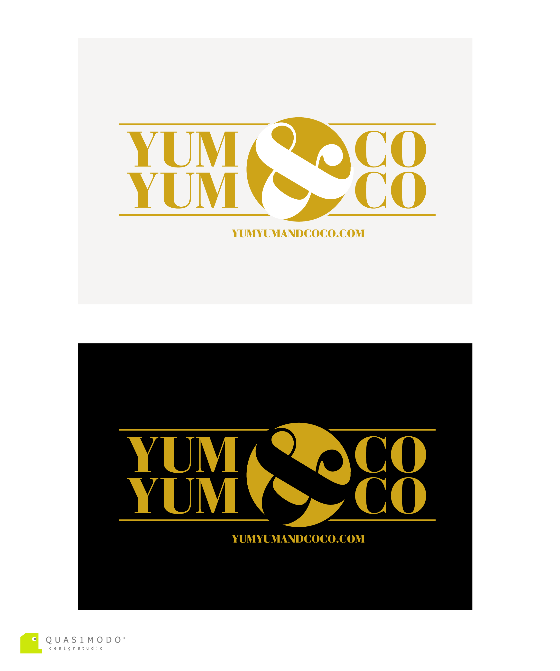 Logo Design by DIMITRIOS PAPADOPOULOS - Entry No. 269 in the Logo Design Contest Logo Design for YumYum & CoCo.