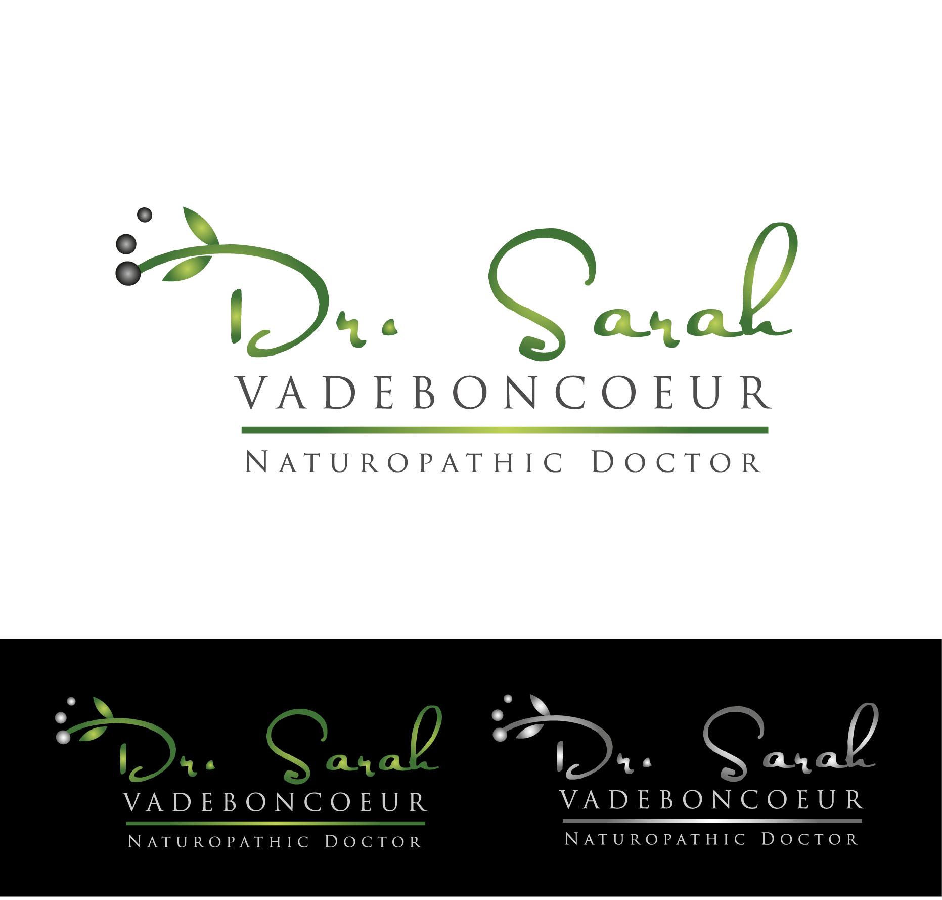 Logo Design by Darina Dimitrova - Entry No. 8 in the Logo Design Contest New Logo Design for Dr. Sarah Vadeboncoeur, Naturopathic Doctor.