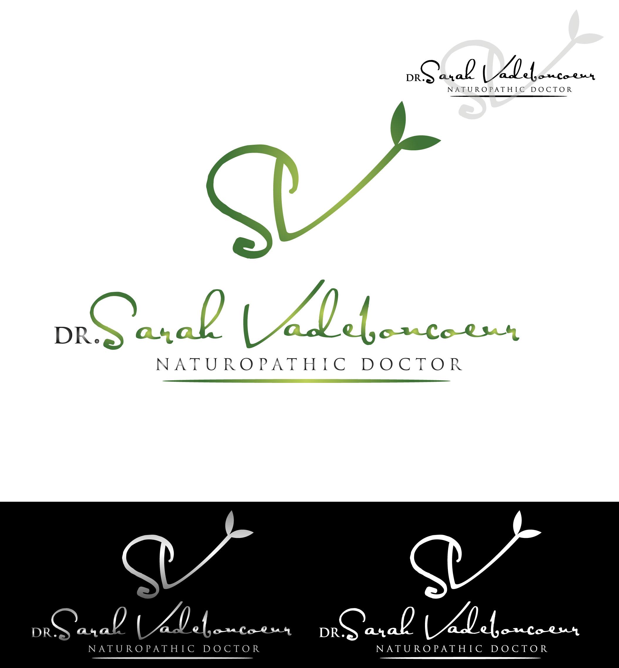 Logo Design by Darina Dimitrova - Entry No. 9 in the Logo Design Contest New Logo Design for Dr. Sarah Vadeboncoeur, Naturopathic Doctor.