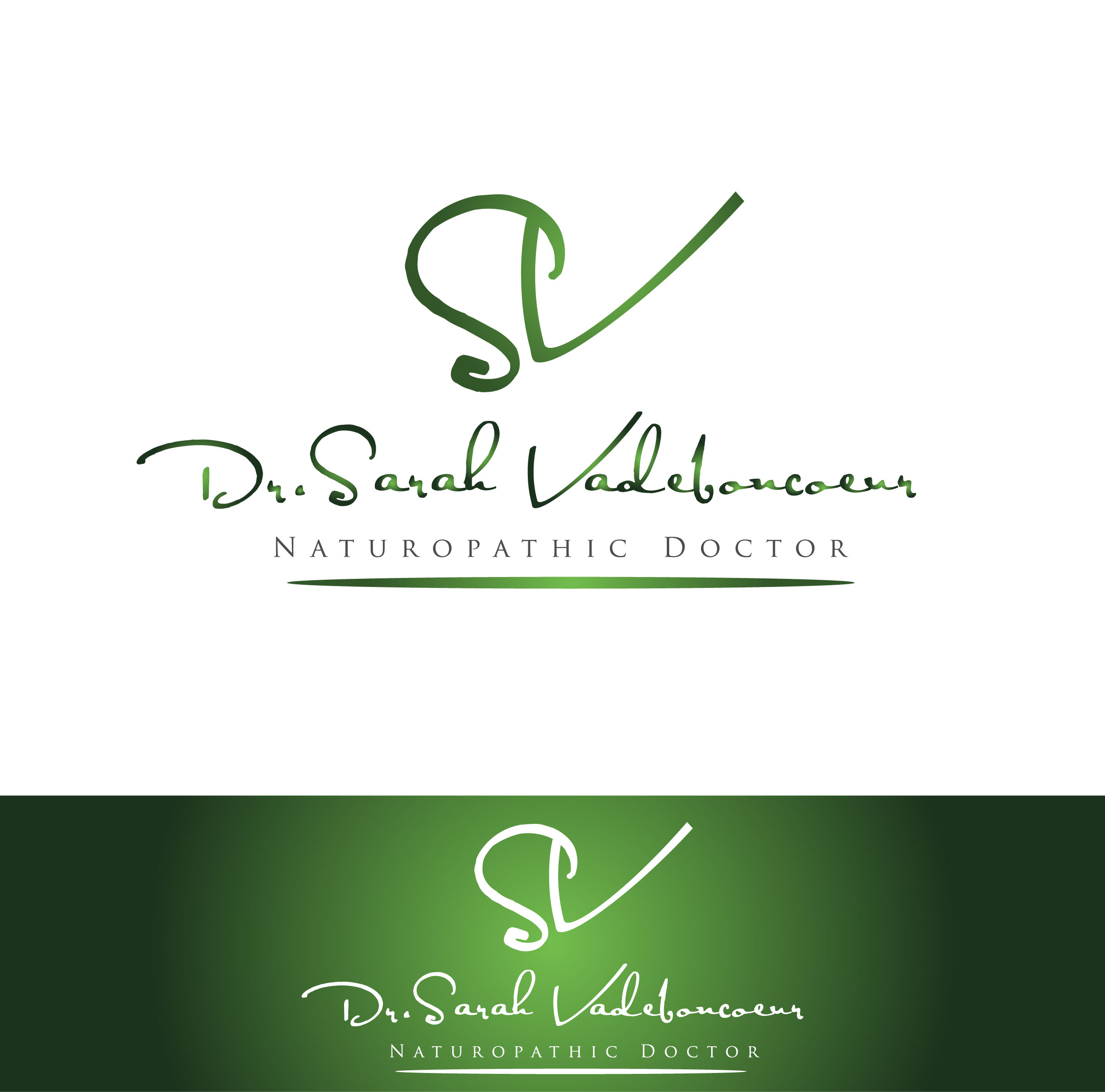 Logo Design by Darina Dimitrova - Entry No. 13 in the Logo Design Contest New Logo Design for Dr. Sarah Vadeboncoeur, Naturopathic Doctor.