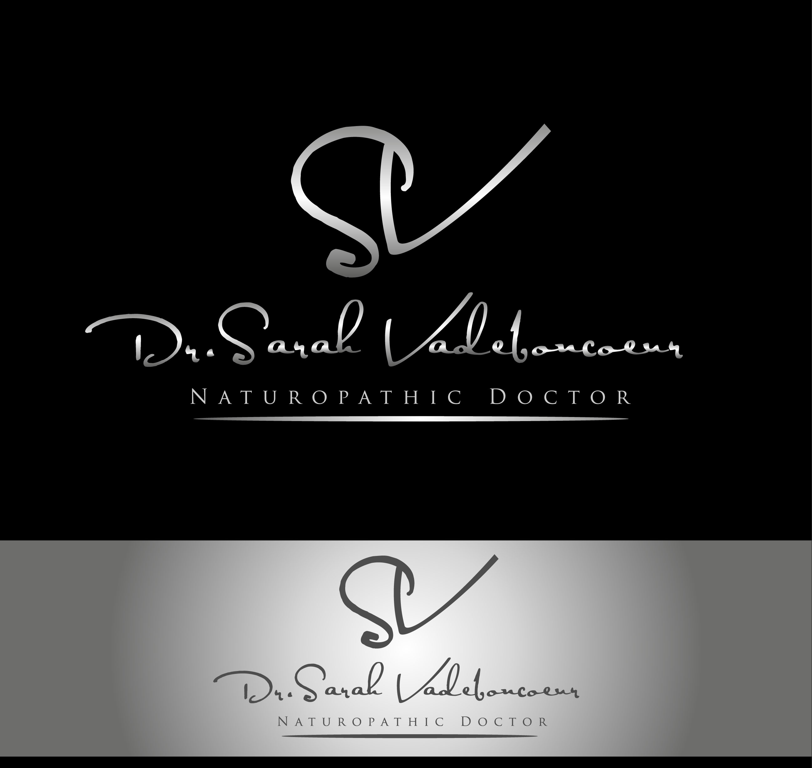 Logo Design by Darina Dimitrova - Entry No. 14 in the Logo Design Contest New Logo Design for Dr. Sarah Vadeboncoeur, Naturopathic Doctor.
