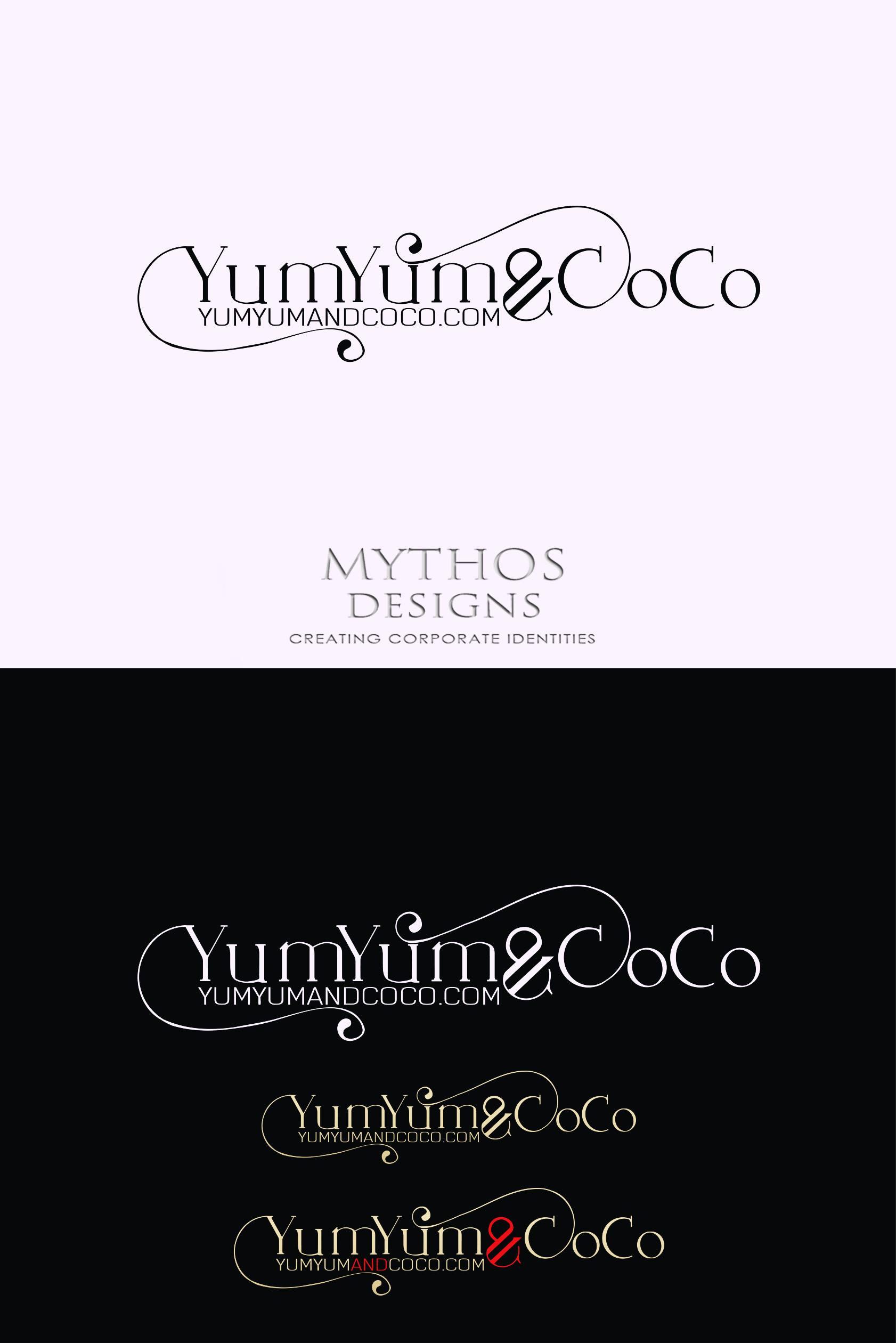 Logo Design by Mythos Designs - Entry No. 286 in the Logo Design Contest Logo Design for YumYum & CoCo.