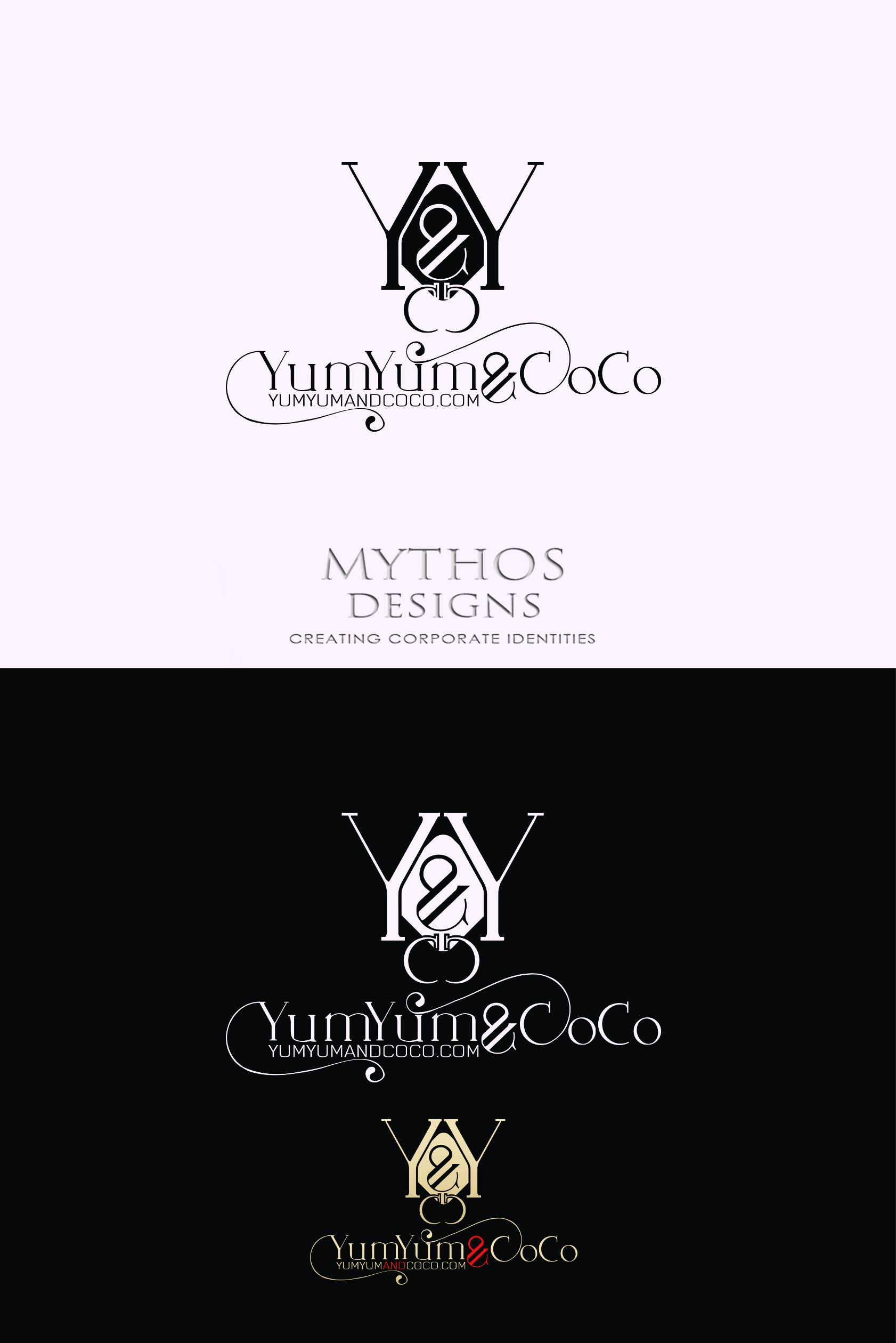 Logo Design by Mythos Designs - Entry No. 287 in the Logo Design Contest Logo Design for YumYum & CoCo.