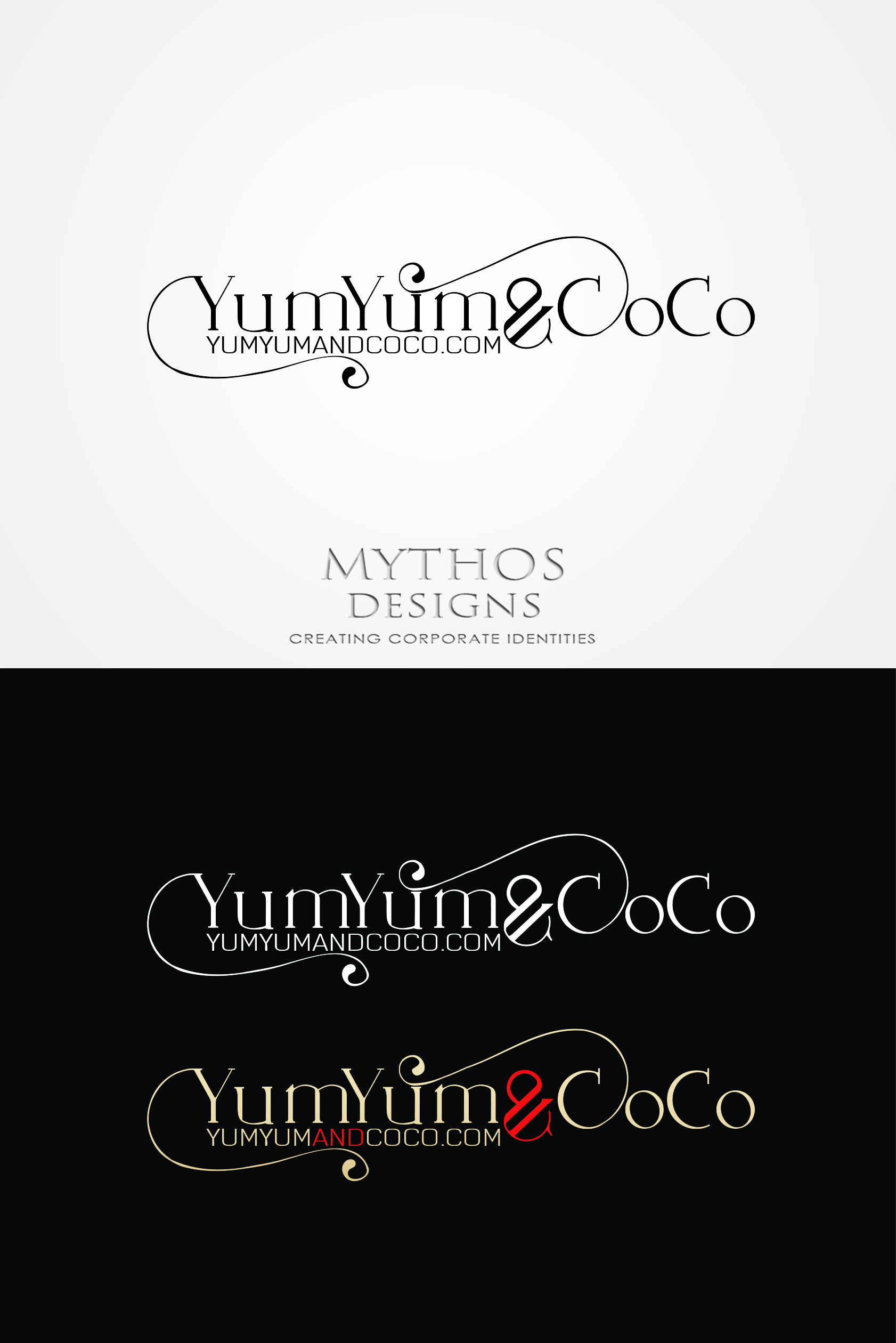 Logo Design by Mythos Designs - Entry No. 288 in the Logo Design Contest Logo Design for YumYum & CoCo.