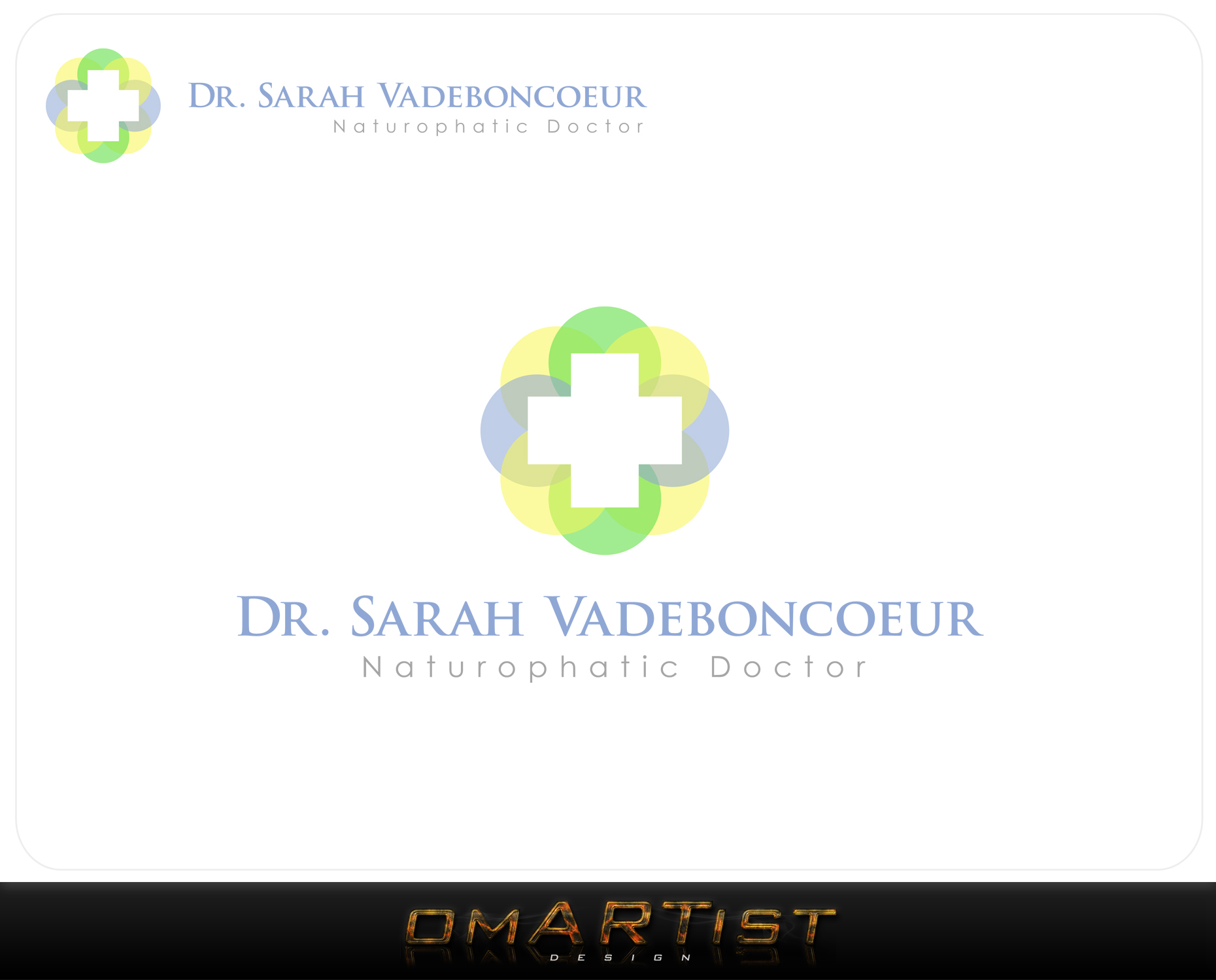 Logo Design by omARTist - Entry No. 19 in the Logo Design Contest New Logo Design for Dr. Sarah Vadeboncoeur, Naturopathic Doctor.