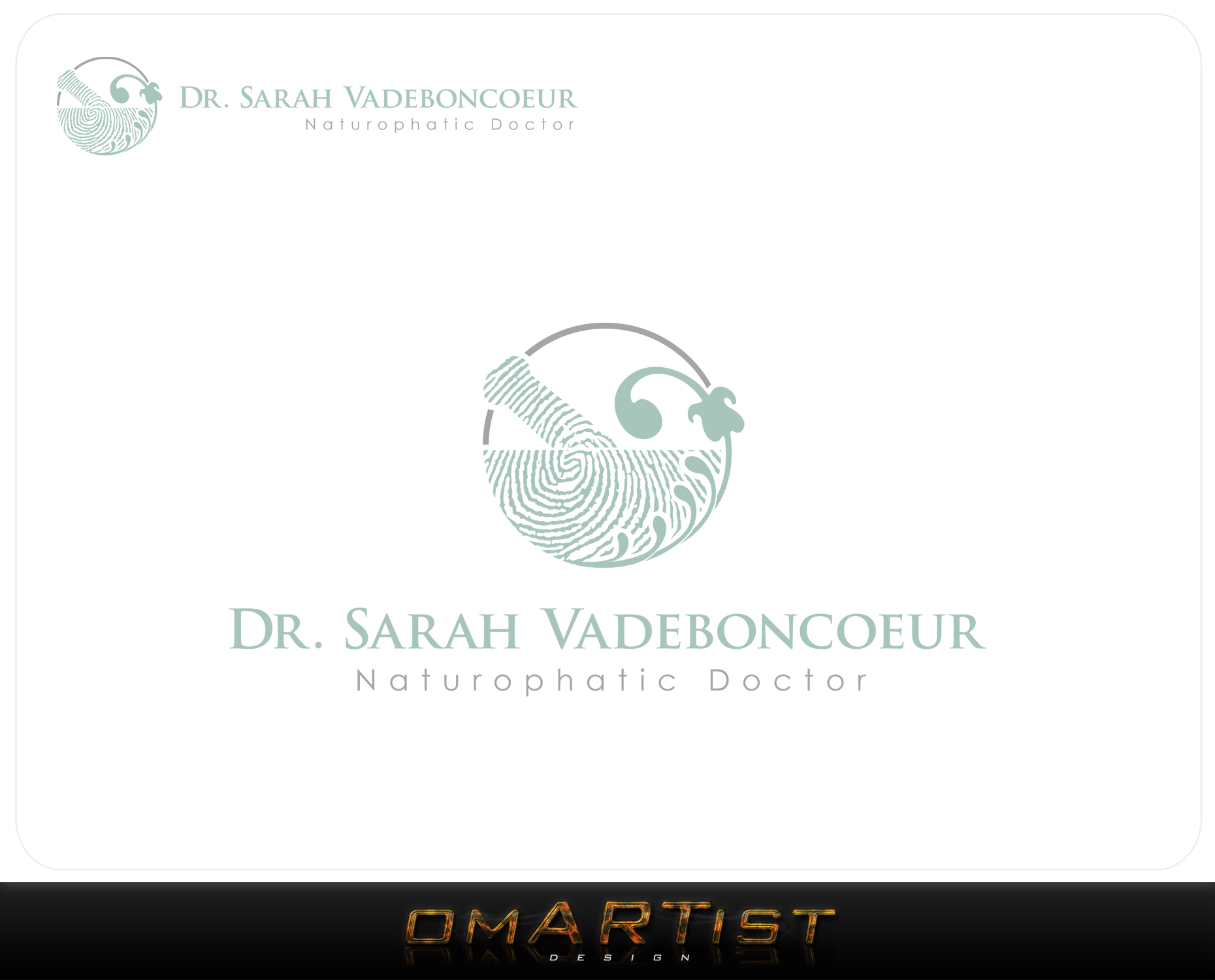Logo Design by omARTist - Entry No. 20 in the Logo Design Contest New Logo Design for Dr. Sarah Vadeboncoeur, Naturopathic Doctor.