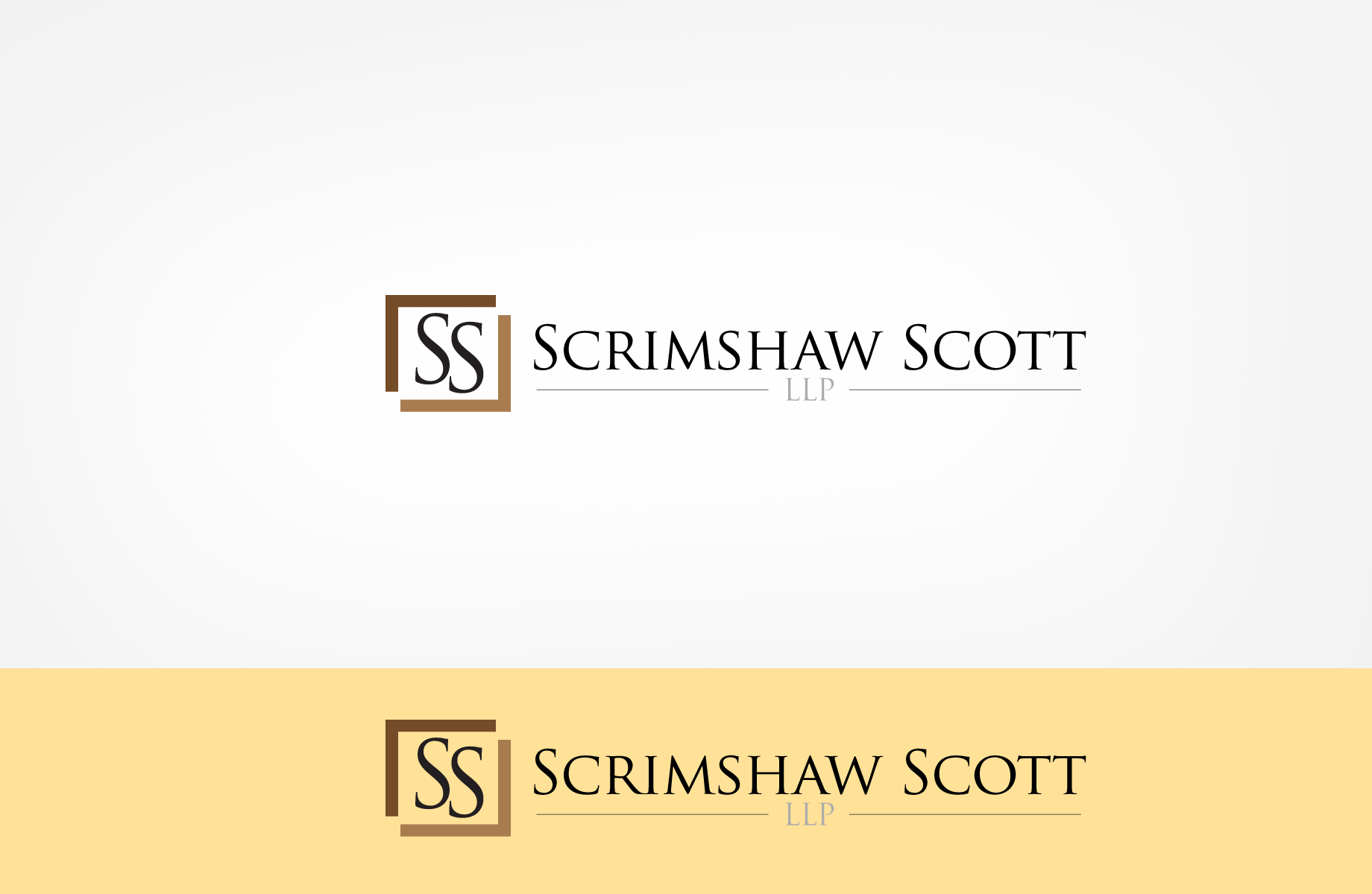 Logo Design by Jan Chua - Entry No. 80 in the Logo Design Contest Creative Logo Design for Scrimshaw Scott LLP.