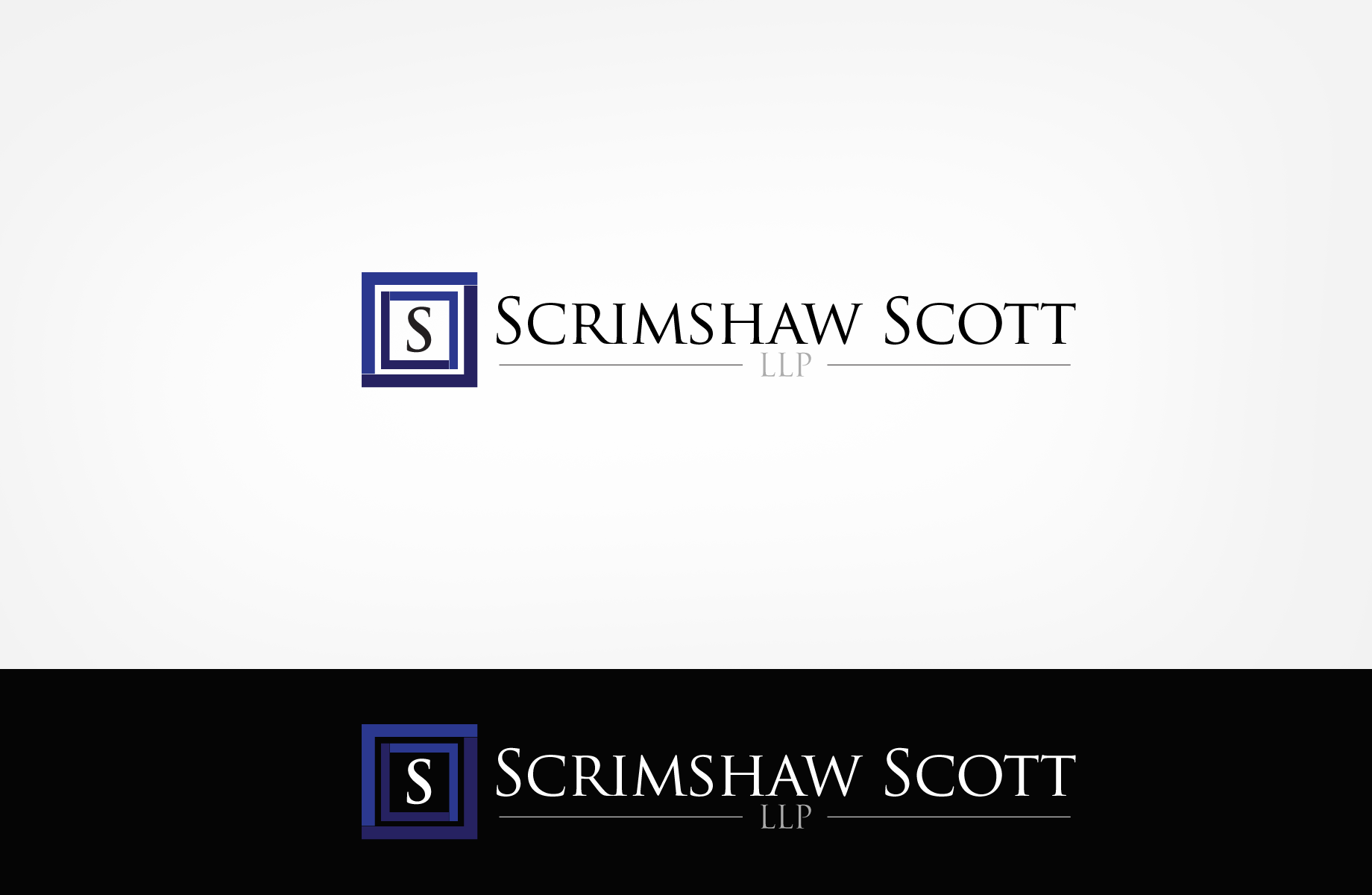 Logo Design by Jan Chua - Entry No. 81 in the Logo Design Contest Creative Logo Design for Scrimshaw Scott LLP.
