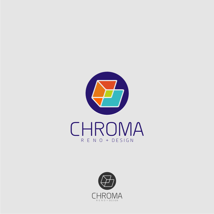 Logo Design by graphicleaf - Entry No. 109 in the Logo Design Contest Inspiring Logo Design for Chroma Reno+Design.