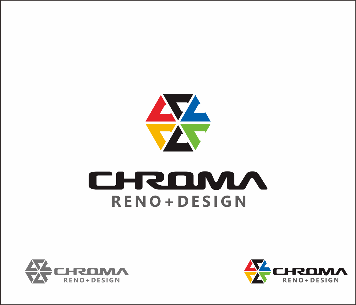 Logo Design by Armada Jamaluddin - Entry No. 117 in the Logo Design Contest Inspiring Logo Design for Chroma Reno+Design.