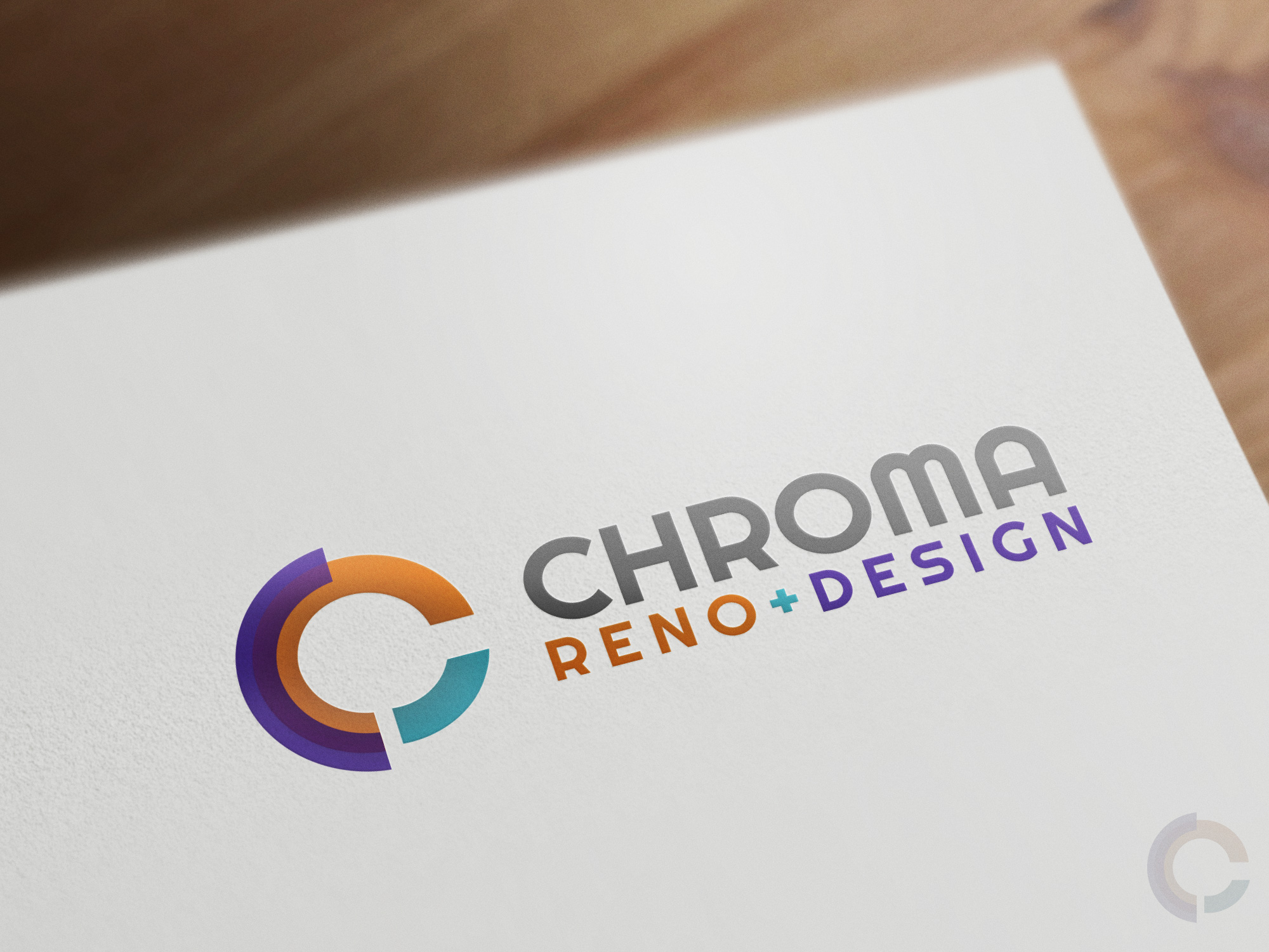 Logo Design by olii - Entry No. 118 in the Logo Design Contest Inspiring Logo Design for Chroma Reno+Design.