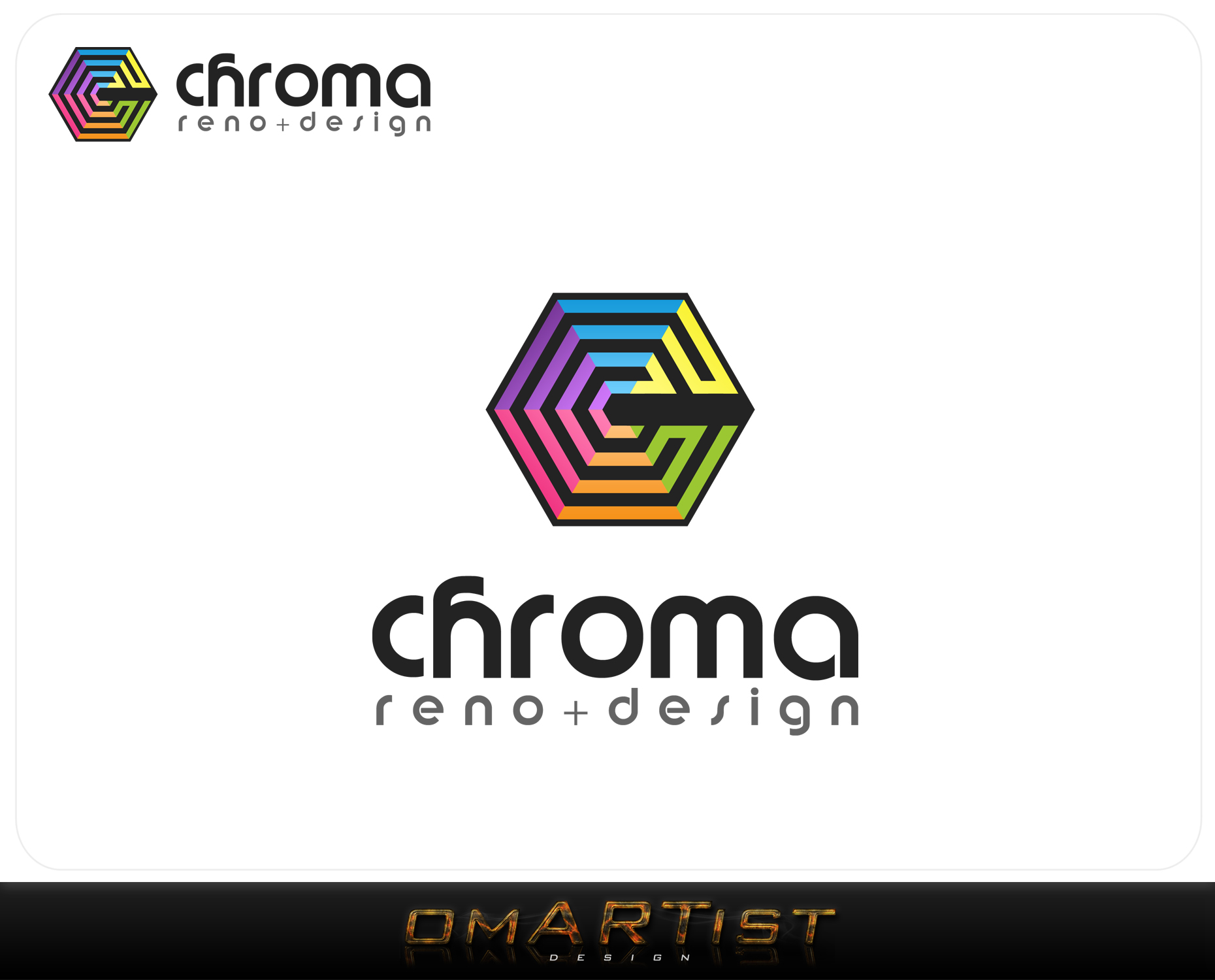 Logo Design by omARTist - Entry No. 121 in the Logo Design Contest Inspiring Logo Design for Chroma Reno+Design.