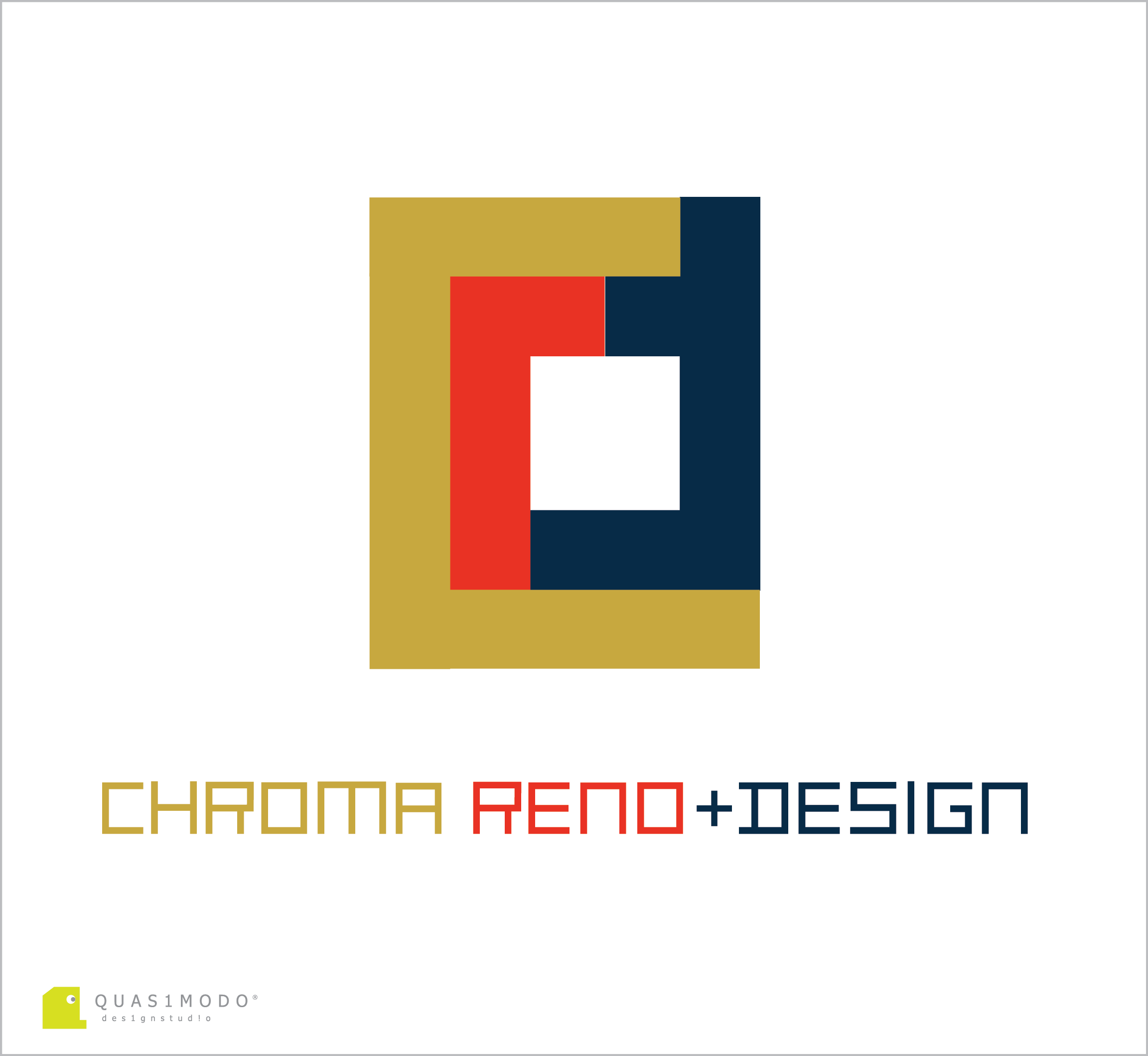 Logo Design by DIMITRIOS PAPADOPOULOS - Entry No. 131 in the Logo Design Contest Inspiring Logo Design for Chroma Reno+Design.