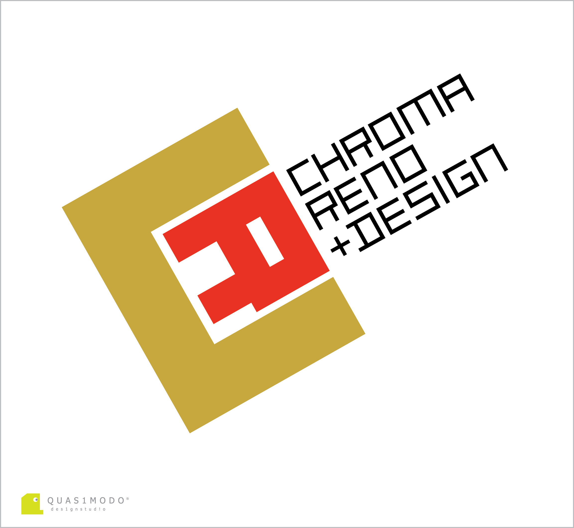 Logo Design by DIMITRIOS PAPADOPOULOS - Entry No. 132 in the Logo Design Contest Inspiring Logo Design for Chroma Reno+Design.
