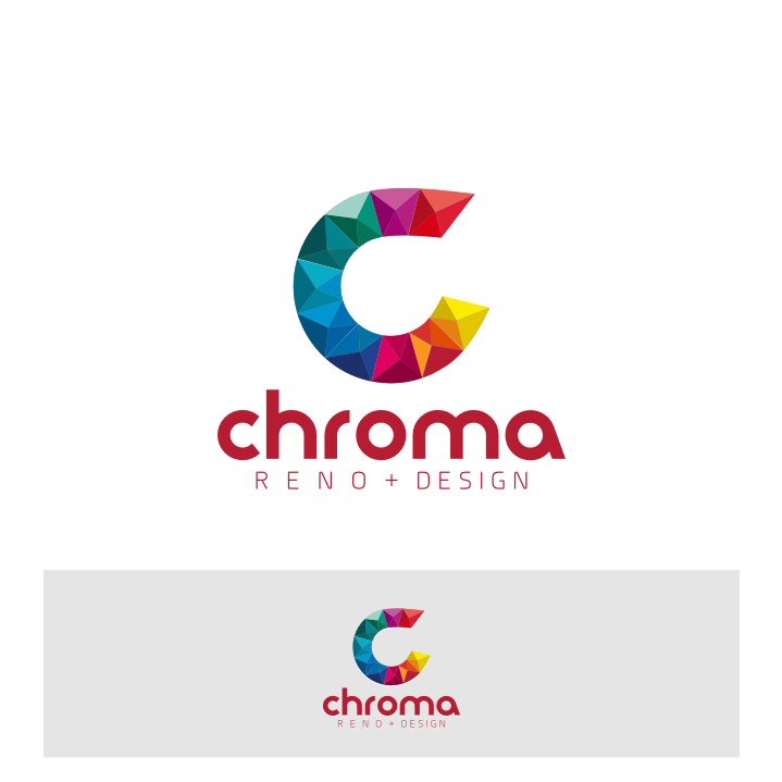 Logo Design by graphicleaf - Entry No. 135 in the Logo Design Contest Inspiring Logo Design for Chroma Reno+Design.