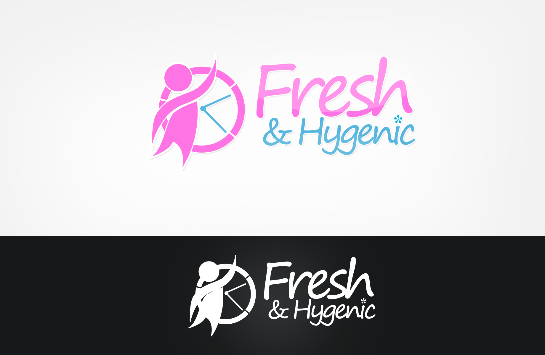 Logo Design by Jan Chua - Entry No. 44 in the Logo Design Contest Fun Logo Design for Fresh & Hygenic.