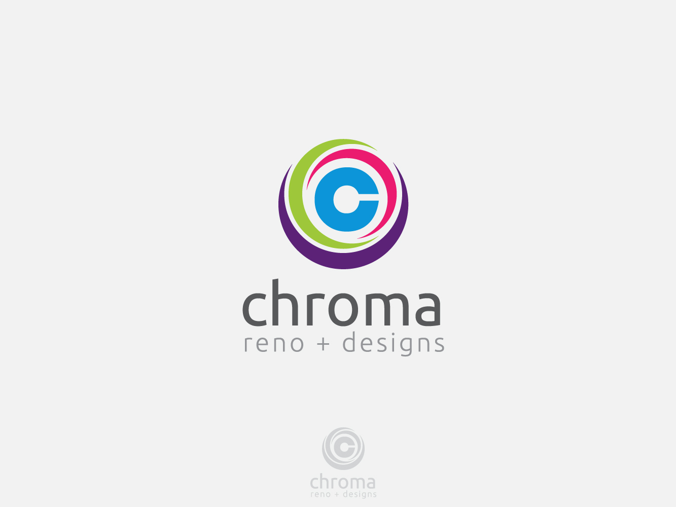 Logo Design by Jerameel Cabautan - Entry No. 140 in the Logo Design Contest Inspiring Logo Design for Chroma Reno+Design.