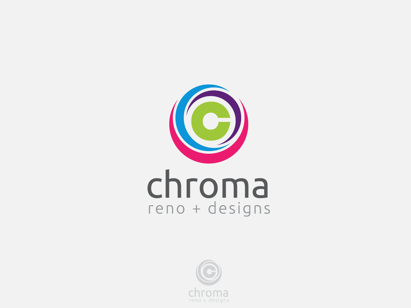 Logo Design by Jerameel Cabautan - Entry No. 141 in the Logo Design Contest Inspiring Logo Design for Chroma Reno+Design.