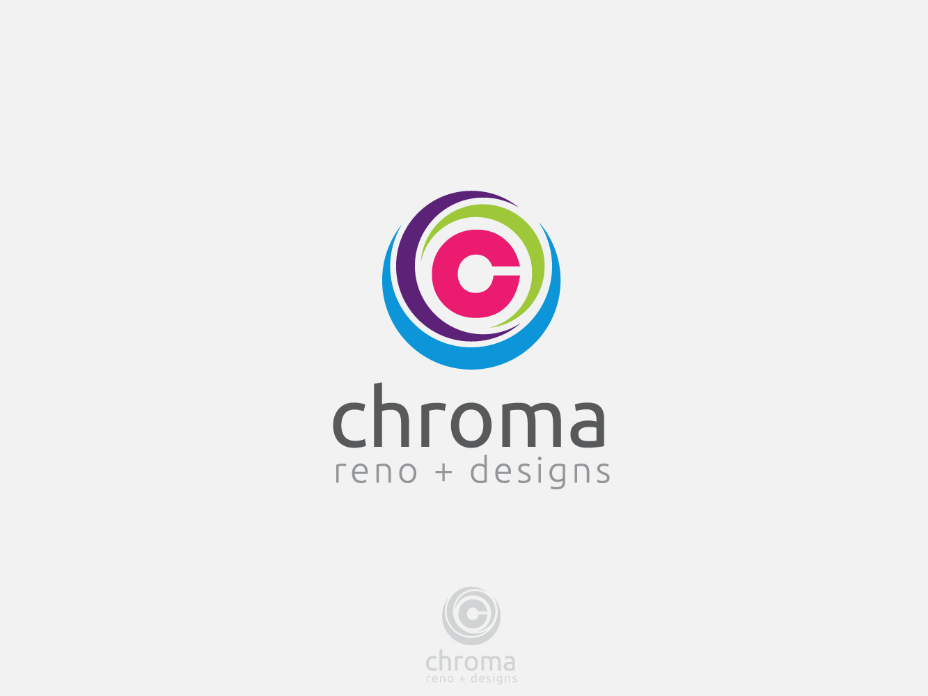 Logo Design by Jerameel Cabautan - Entry No. 142 in the Logo Design Contest Inspiring Logo Design for Chroma Reno+Design.