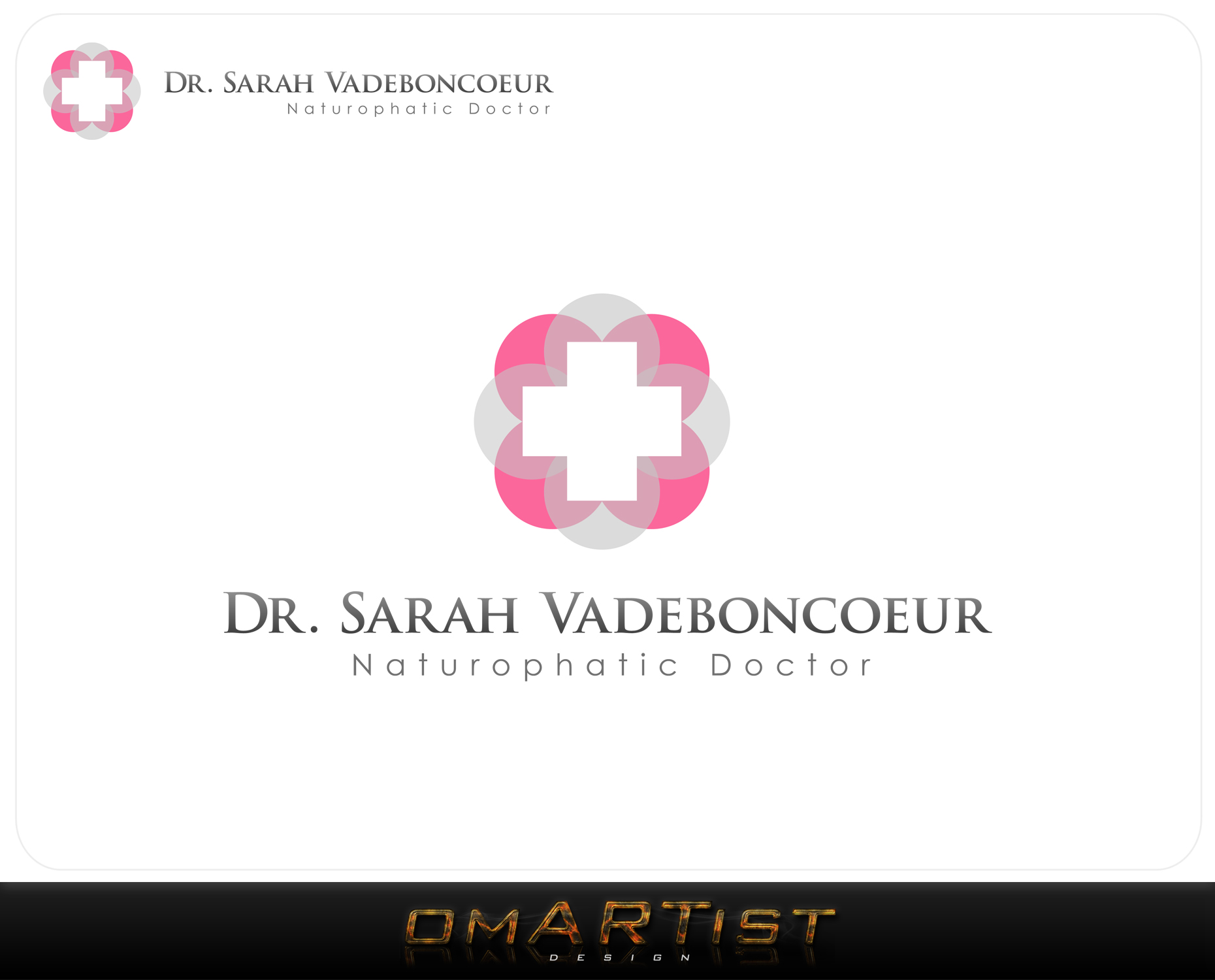Logo Design by omARTist - Entry No. 35 in the Logo Design Contest New Logo Design for Dr. Sarah Vadeboncoeur, Naturopathic Doctor.