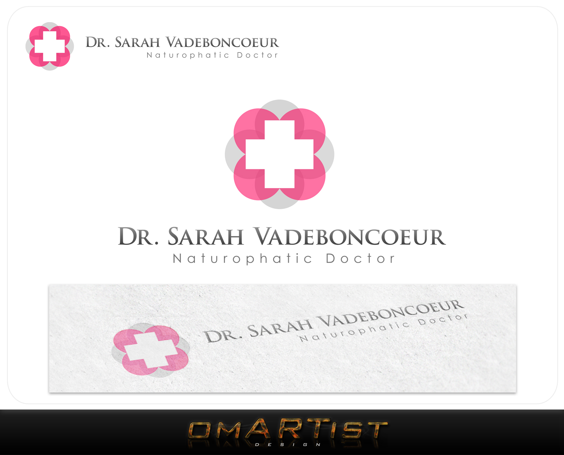 Logo Design by omARTist - Entry No. 36 in the Logo Design Contest New Logo Design for Dr. Sarah Vadeboncoeur, Naturopathic Doctor.