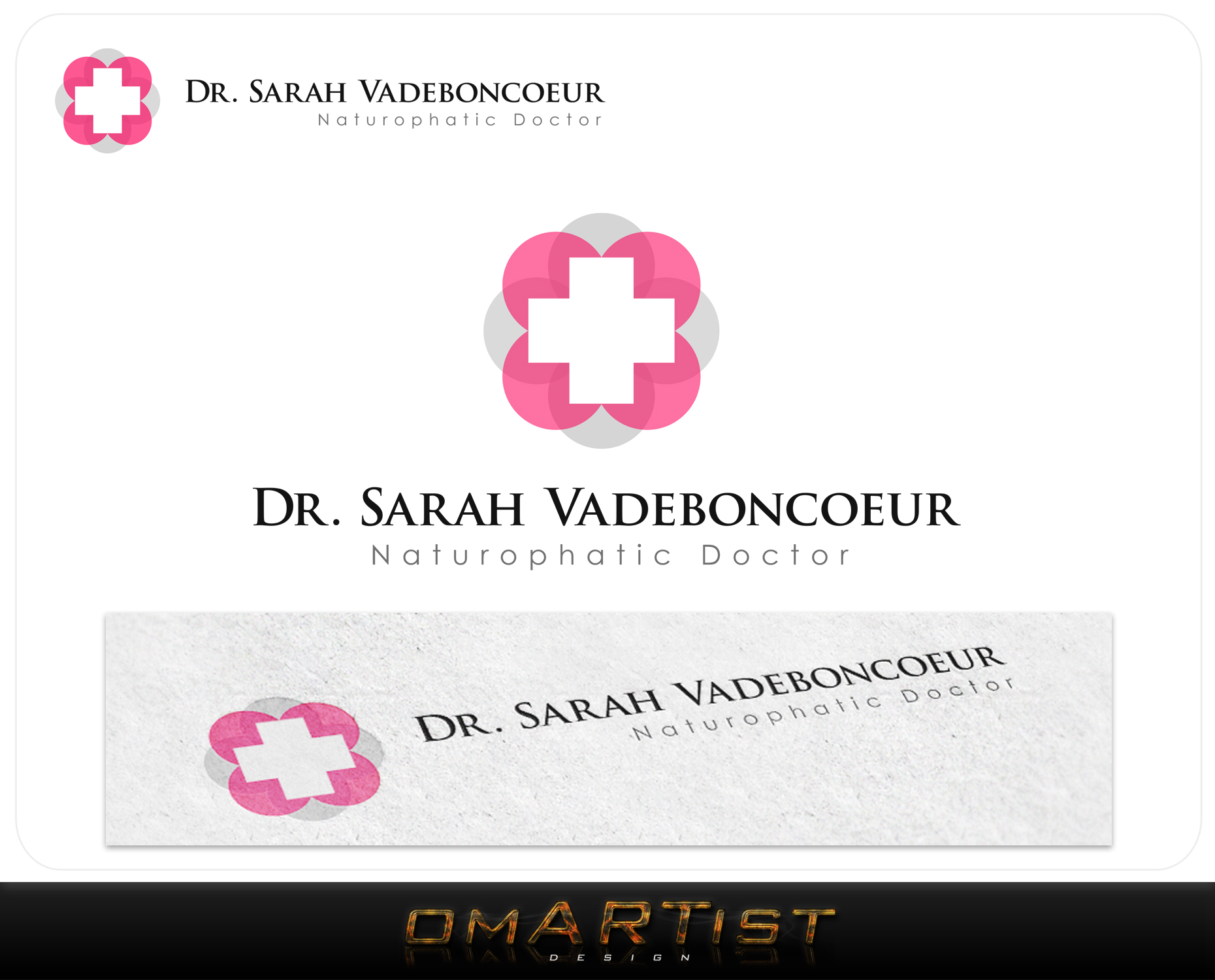 Logo Design by omARTist - Entry No. 37 in the Logo Design Contest New Logo Design for Dr. Sarah Vadeboncoeur, Naturopathic Doctor.
