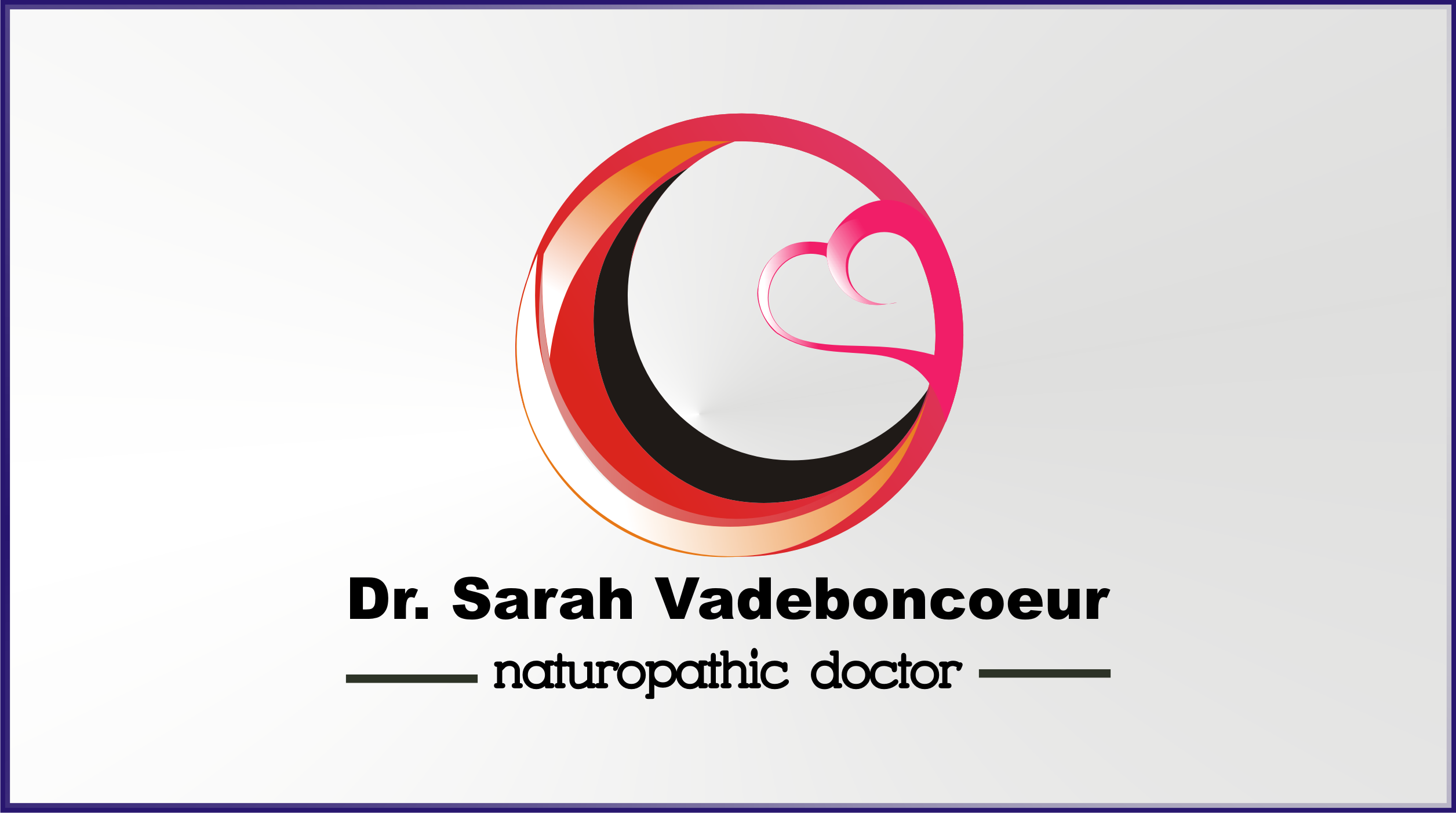 Logo Design by Private User - Entry No. 42 in the Logo Design Contest New Logo Design for Dr. Sarah Vadeboncoeur, Naturopathic Doctor.