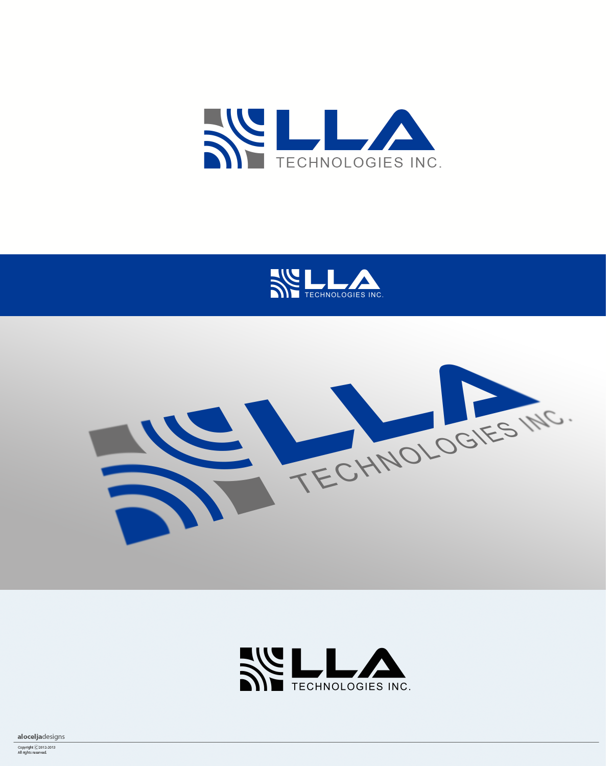 Logo Design by alocelja - Entry No. 68 in the Logo Design Contest Inspiring Logo Design for LLA Technologies Inc..