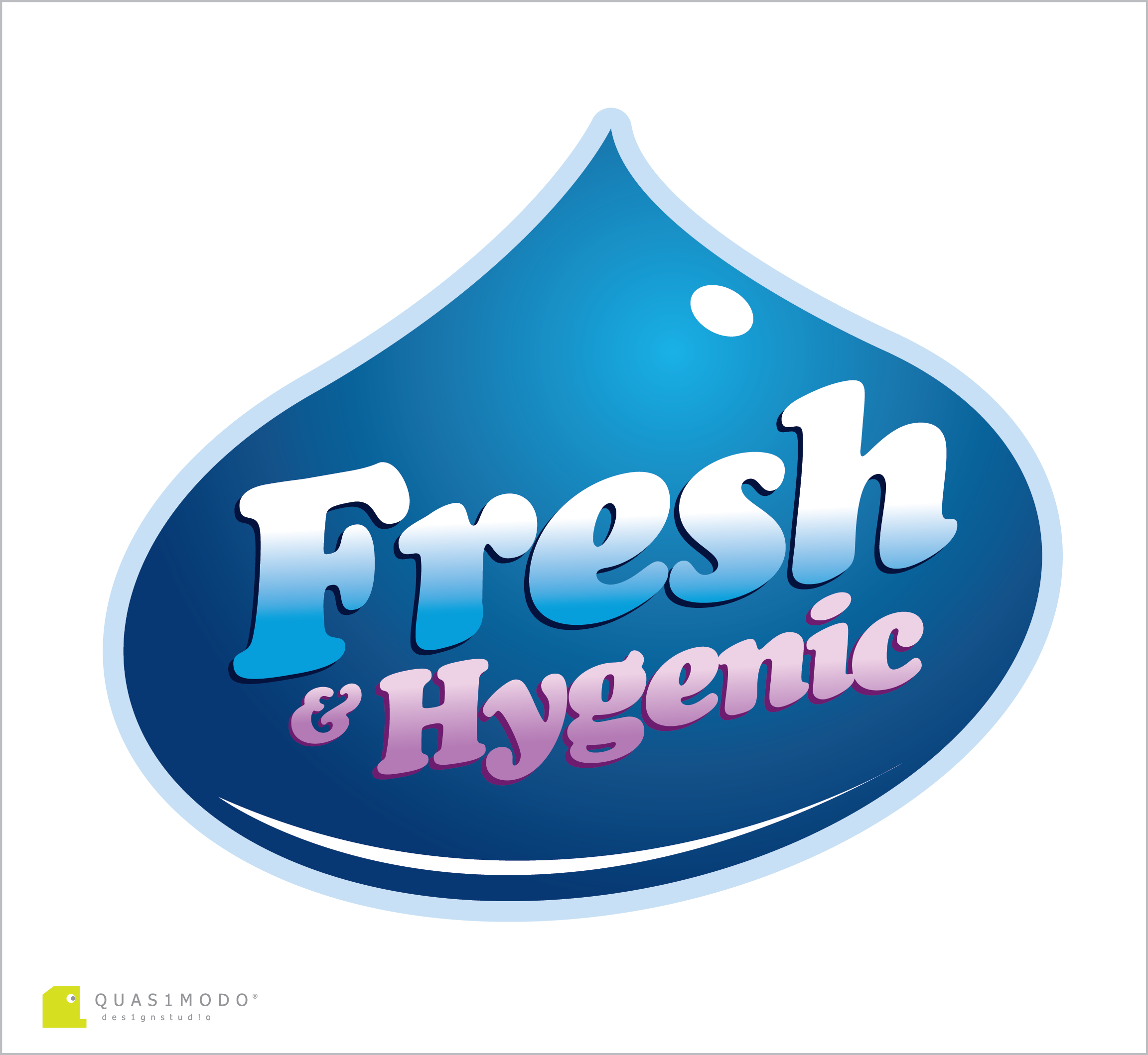 Logo Design by DIMITRIOS PAPADOPOULOS - Entry No. 59 in the Logo Design Contest Fun Logo Design for Fresh & Hygenic.