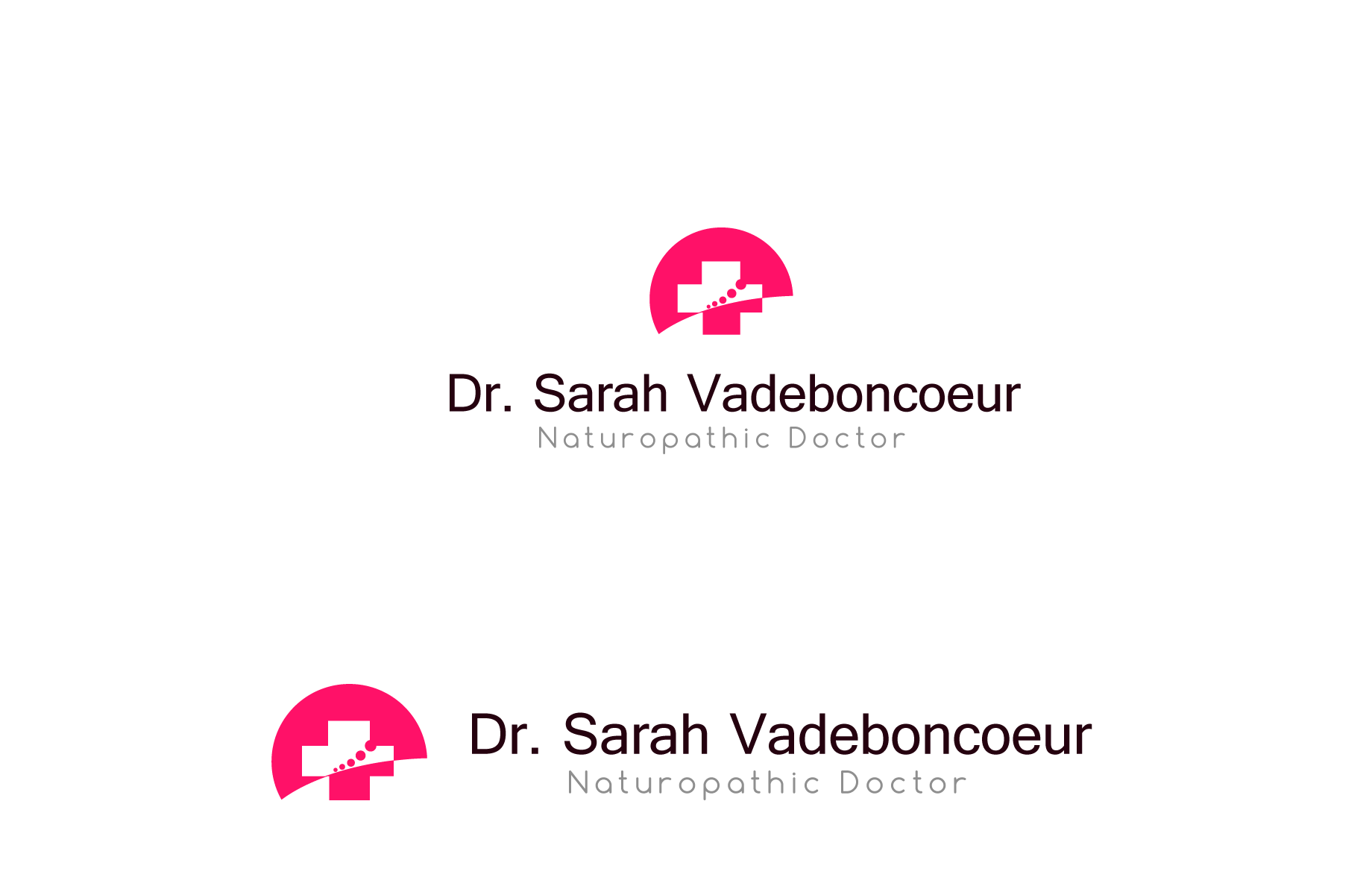Logo Design by Jan Chua - Entry No. 64 in the Logo Design Contest New Logo Design for Dr. Sarah Vadeboncoeur, Naturopathic Doctor.
