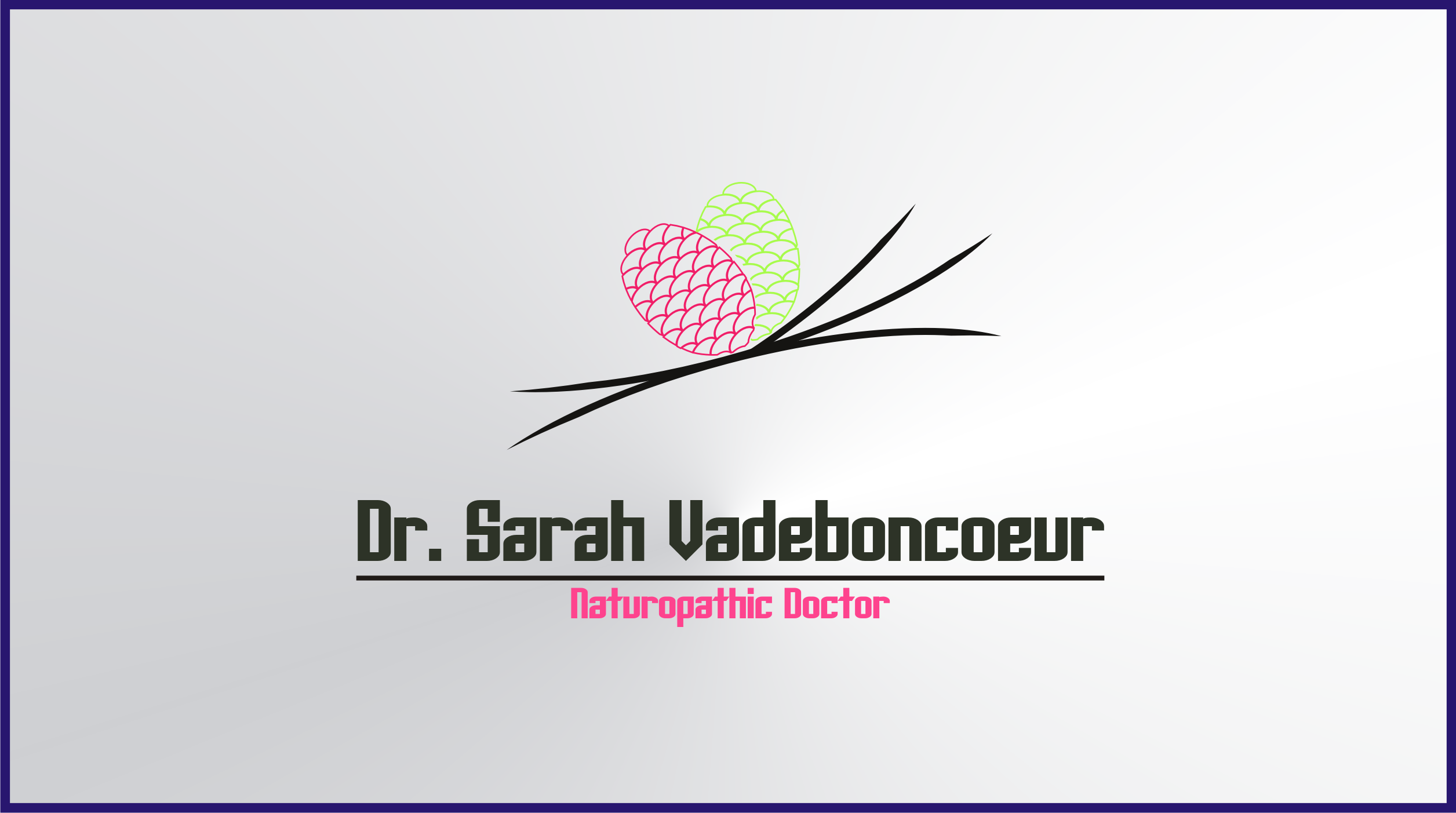 Logo Design by Private User - Entry No. 65 in the Logo Design Contest New Logo Design for Dr. Sarah Vadeboncoeur, Naturopathic Doctor.