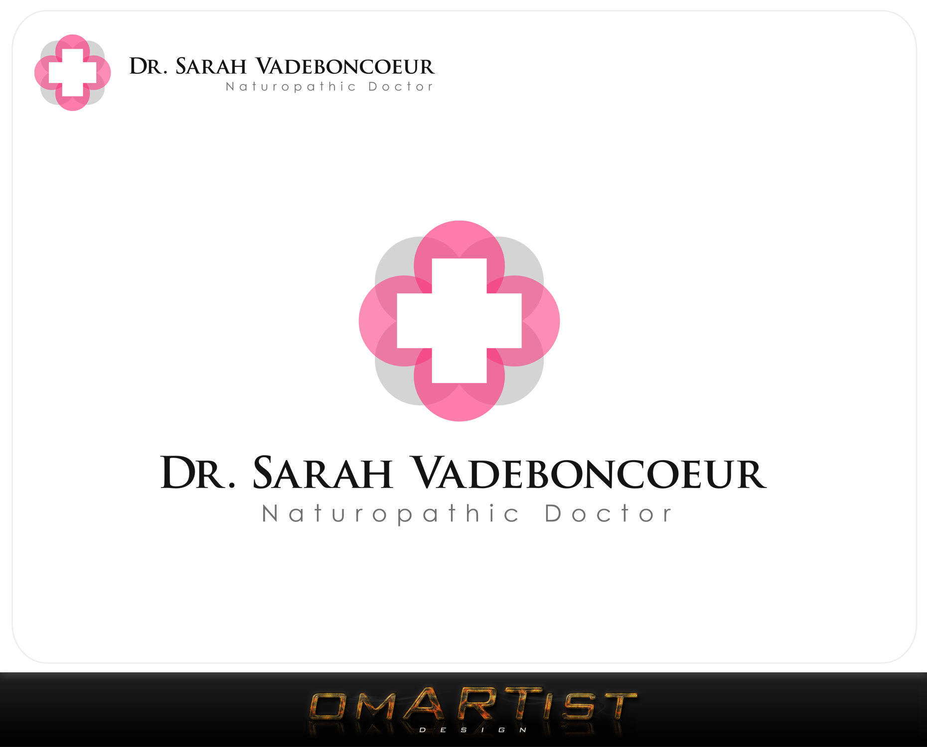Logo Design by omARTist - Entry No. 69 in the Logo Design Contest New Logo Design for Dr. Sarah Vadeboncoeur, Naturopathic Doctor.