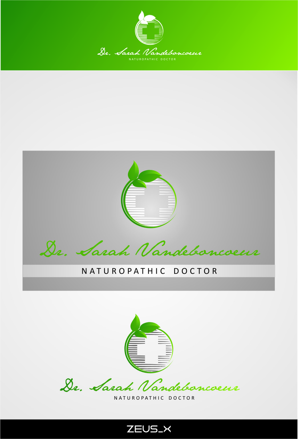 Logo Design by Ngepet_art - Entry No. 77 in the Logo Design Contest New Logo Design for Dr. Sarah Vadeboncoeur, Naturopathic Doctor.