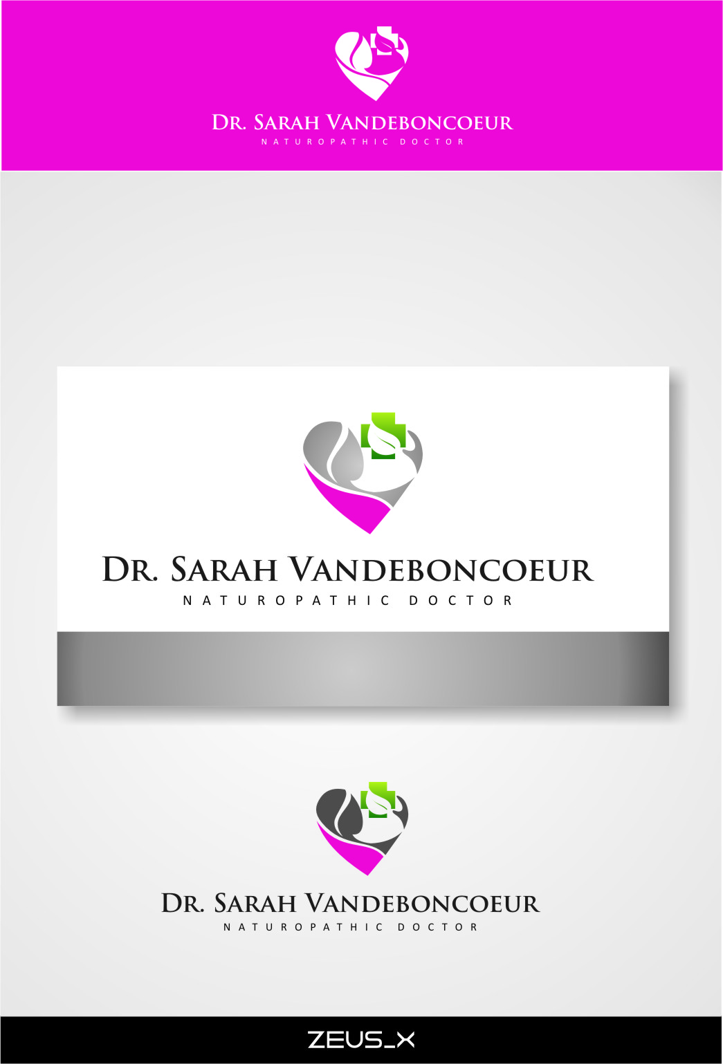Logo Design by Ngepet_art - Entry No. 78 in the Logo Design Contest New Logo Design for Dr. Sarah Vadeboncoeur, Naturopathic Doctor.
