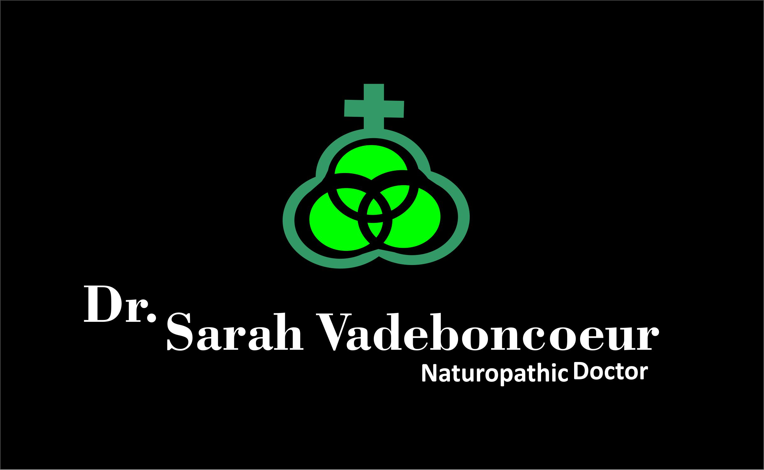 Logo Design by Cu Jcd - Entry No. 89 in the Logo Design Contest New Logo Design for Dr. Sarah Vadeboncoeur, Naturopathic Doctor.