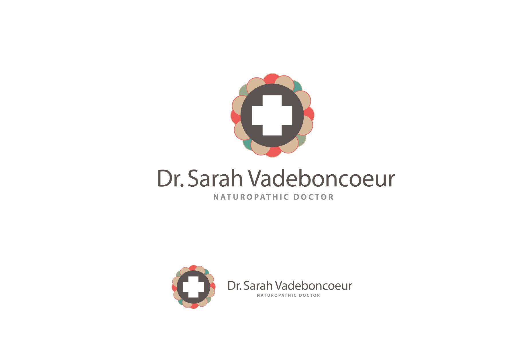 Logo Design by Jan Chua - Entry No. 90 in the Logo Design Contest New Logo Design for Dr. Sarah Vadeboncoeur, Naturopathic Doctor.