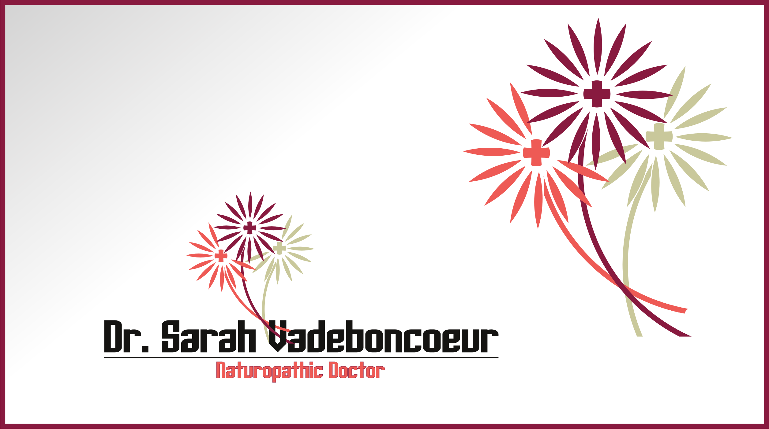 Logo Design by Private User - Entry No. 93 in the Logo Design Contest New Logo Design for Dr. Sarah Vadeboncoeur, Naturopathic Doctor.