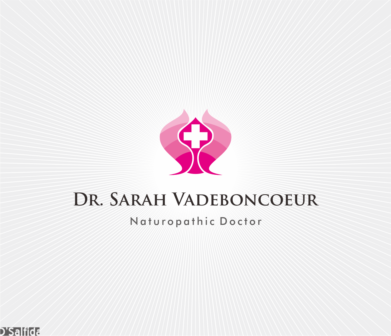 Logo Design by Armada Jamaluddin - Entry No. 95 in the Logo Design Contest New Logo Design for Dr. Sarah Vadeboncoeur, Naturopathic Doctor.