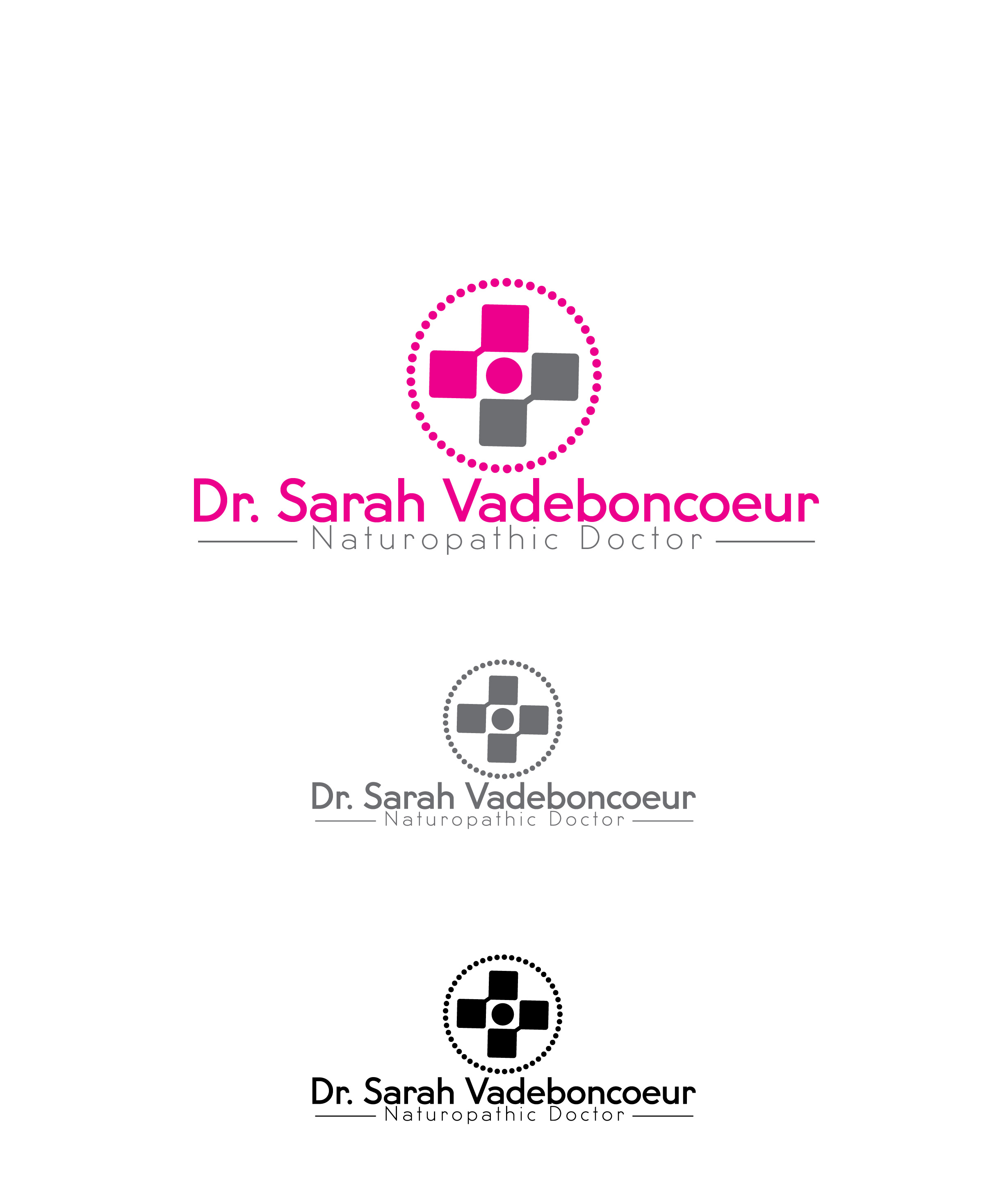 Logo Design by lagalag - Entry No. 97 in the Logo Design Contest New Logo Design for Dr. Sarah Vadeboncoeur, Naturopathic Doctor.