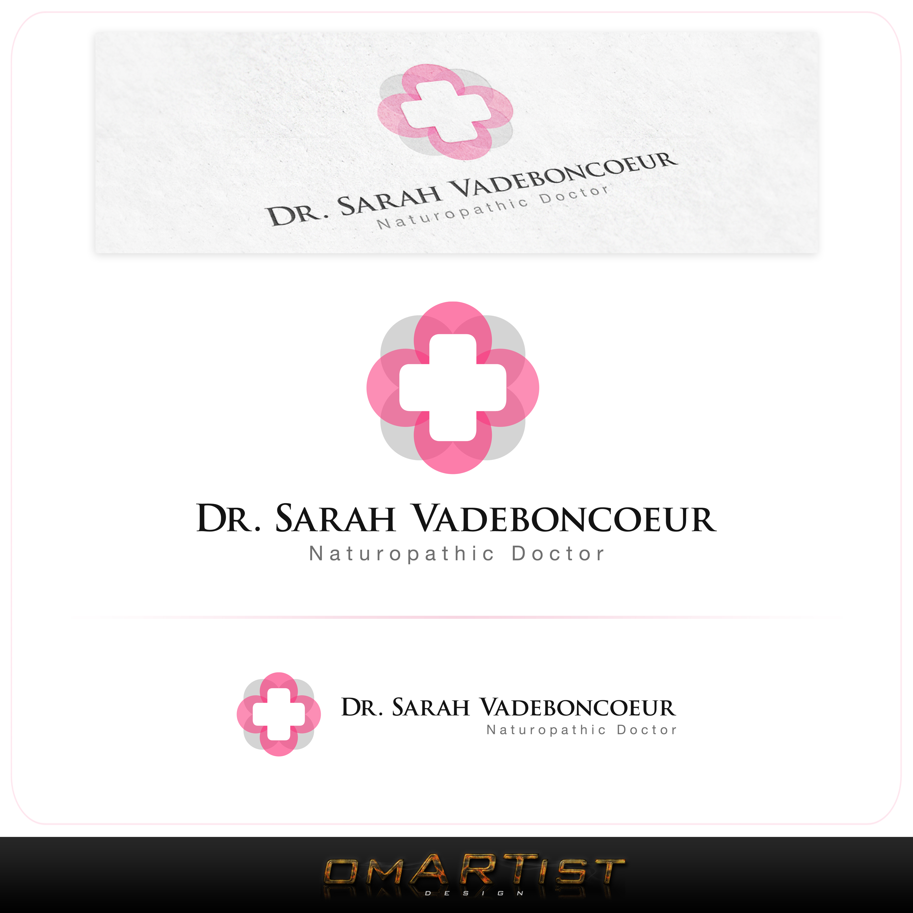 Logo Design by omARTist - Entry No. 117 in the Logo Design Contest New Logo Design for Dr. Sarah Vadeboncoeur, Naturopathic Doctor.