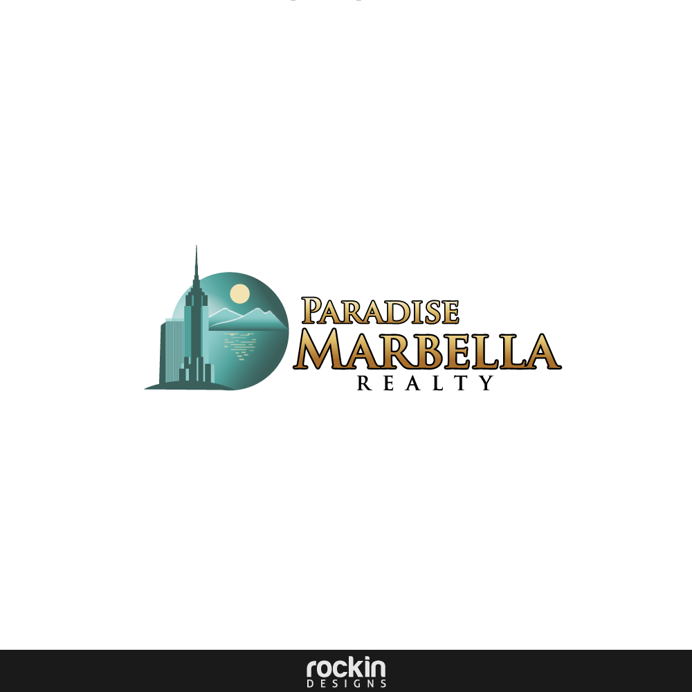 Logo Design by rockin - Entry No. 2 in the Logo Design Contest Captivating Logo Design for Paradise Marbella Realty.