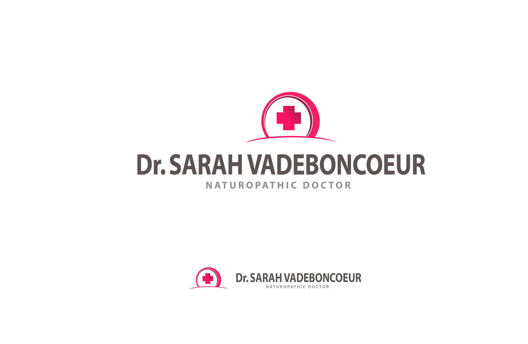 Logo Design by Jan Chua - Entry No. 127 in the Logo Design Contest New Logo Design for Dr. Sarah Vadeboncoeur, Naturopathic Doctor.