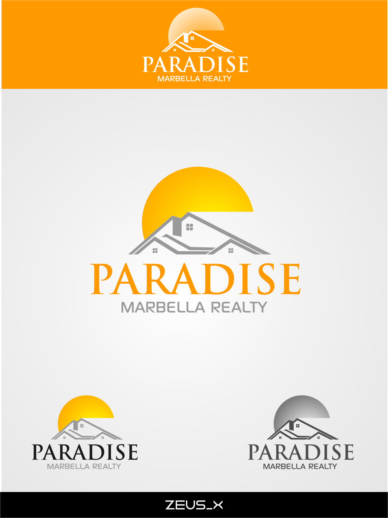 Logo Design by RasYa Muhammad Athaya - Entry No. 18 in the Logo Design Contest Captivating Logo Design for Paradise Marbella Realty.