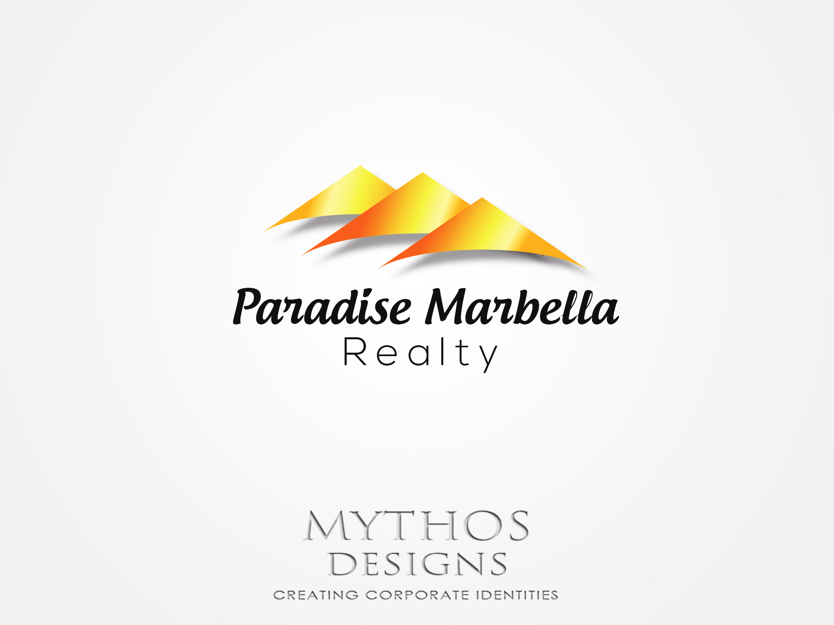 Logo Design by Mythos Designs - Entry No. 44 in the Logo Design Contest Captivating Logo Design for Paradise Marbella Realty.