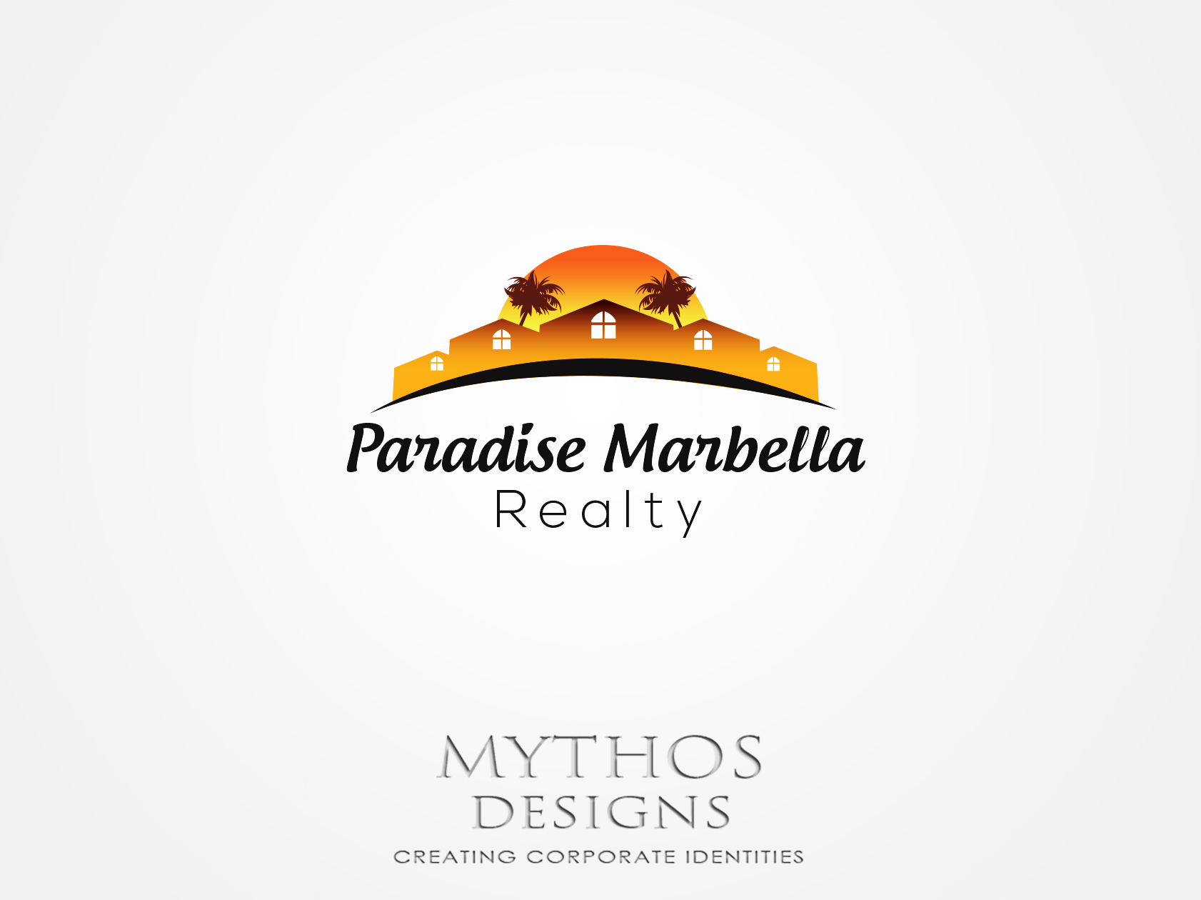 Logo Design by Mythos Designs - Entry No. 45 in the Logo Design Contest Captivating Logo Design for Paradise Marbella Realty.