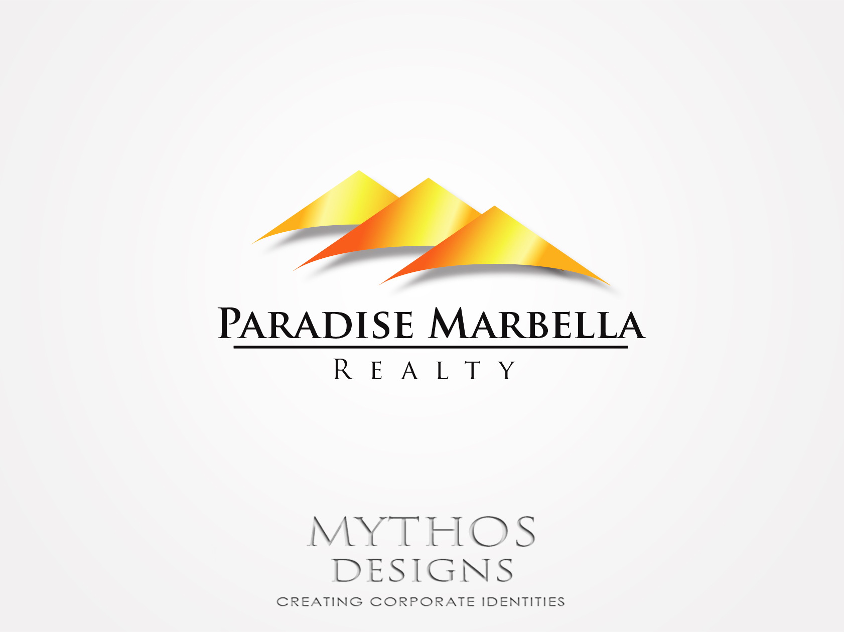 Logo Design by Mythos Designs - Entry No. 48 in the Logo Design Contest Captivating Logo Design for Paradise Marbella Realty.